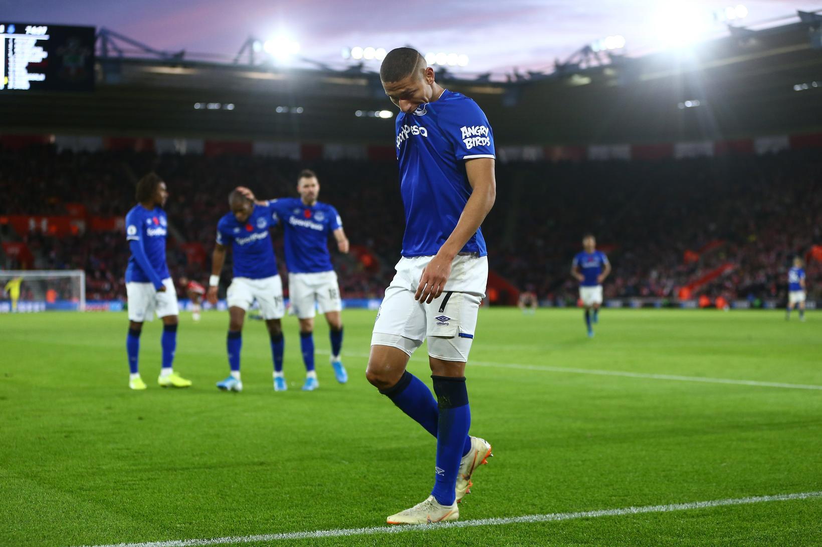 Richarlison skoraði sigurmark Everton í dag á 75. mínútu.