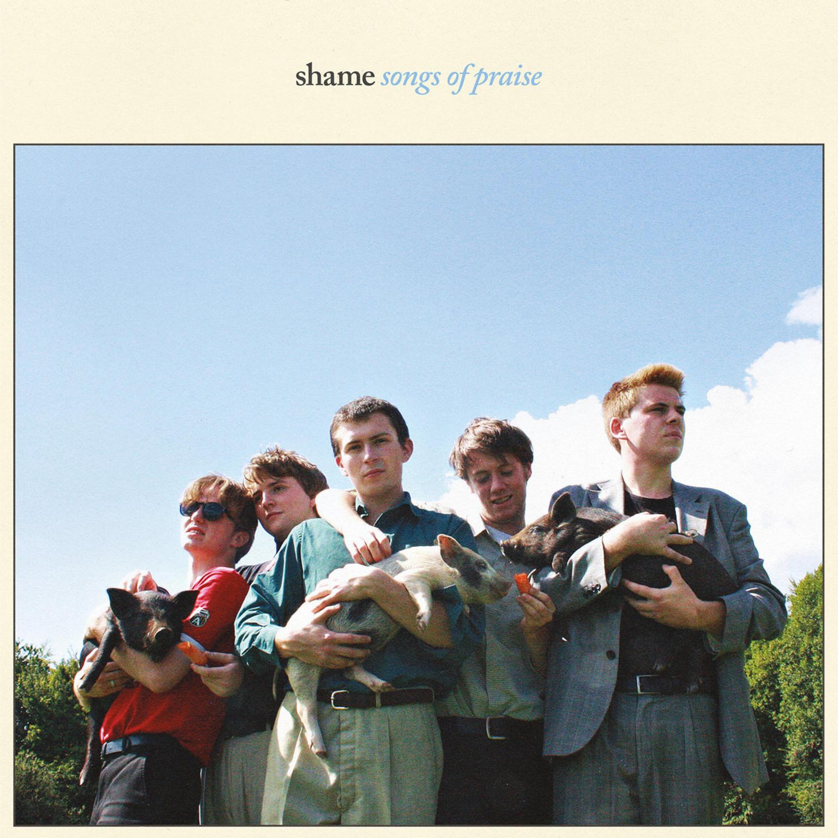Umslag plötunnar Songs of Praise með hljómsveitinni Shame.