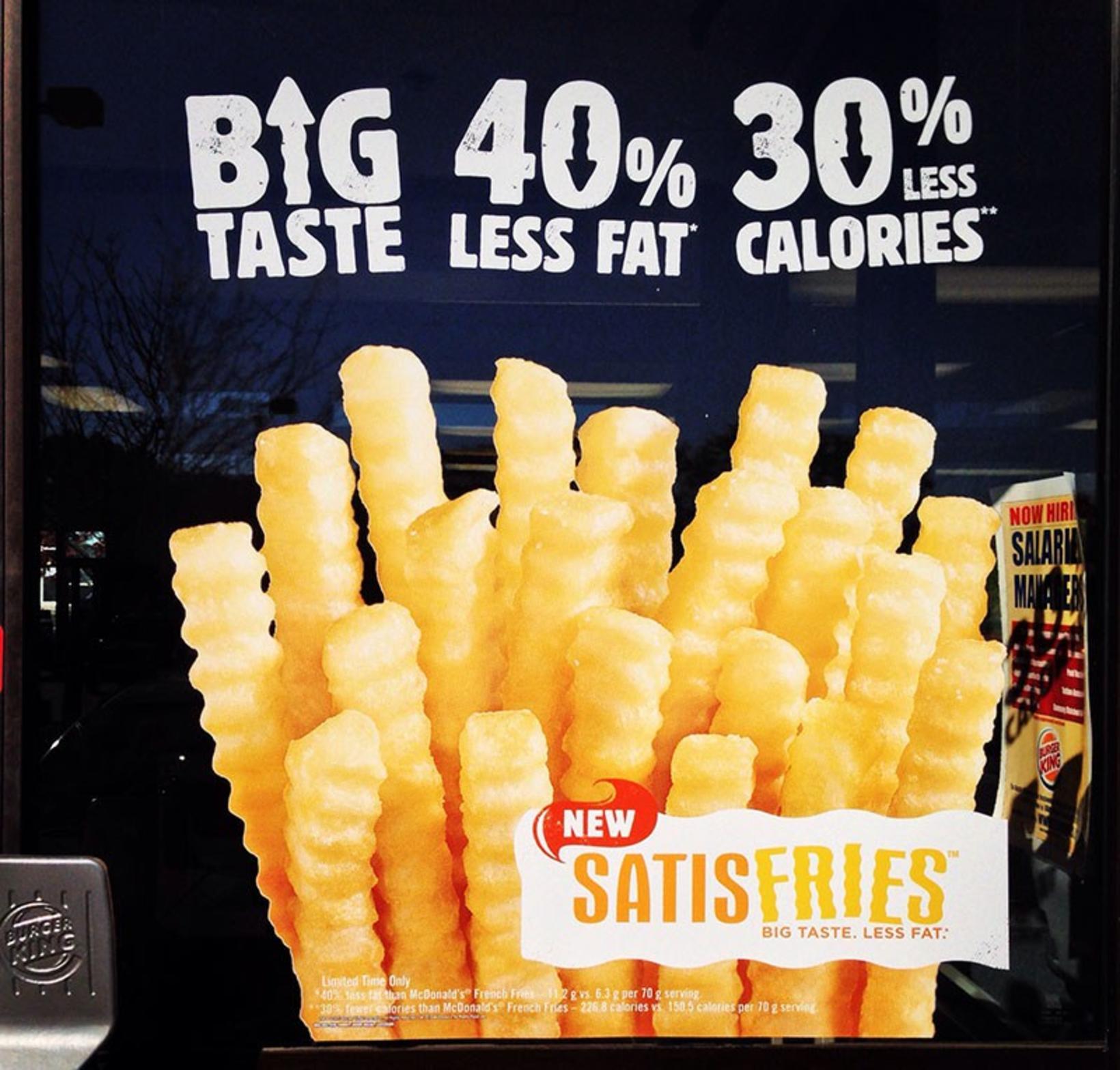 Satisfries franskarnar frá Big Mac floppuðu. Hugmyndin um hollar franskar ...