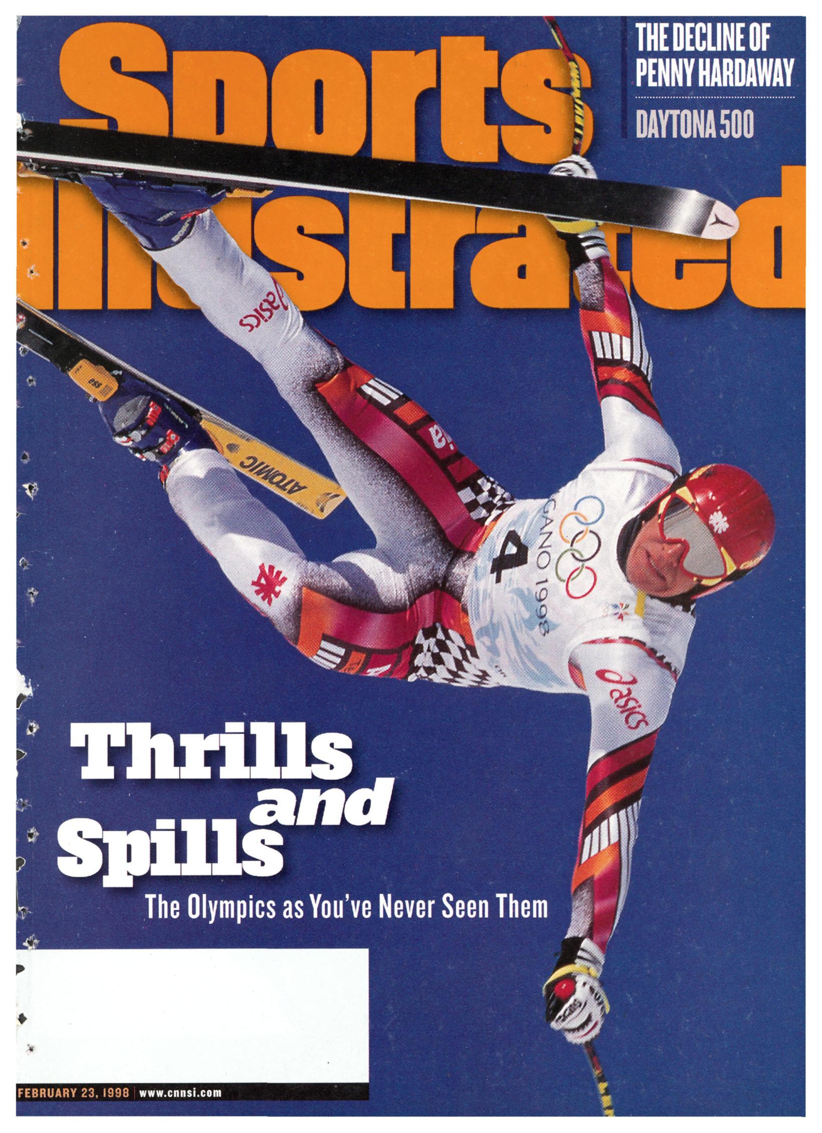 Forsíða tímaritsins Sports Illustrated eftir leikana í Nagano 1998.
