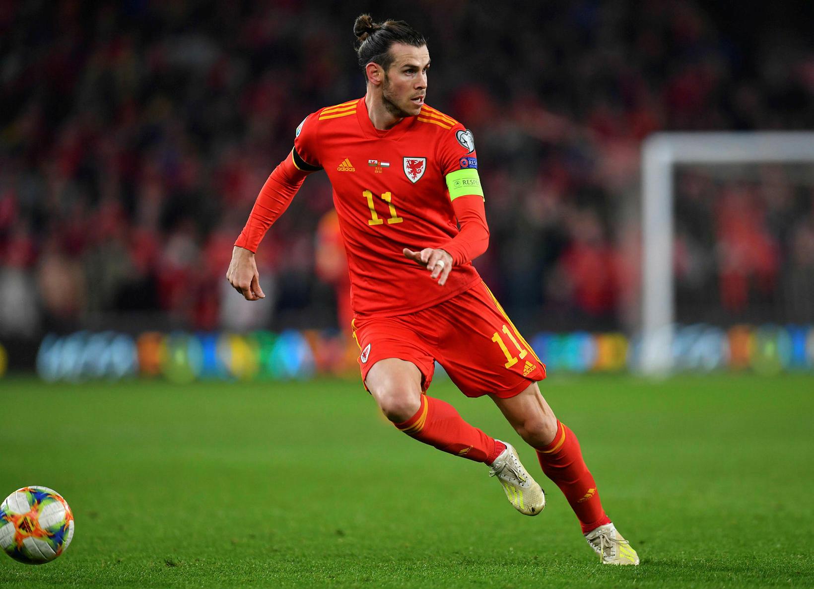 Gareth Bale í landsleiknum á dögunum.