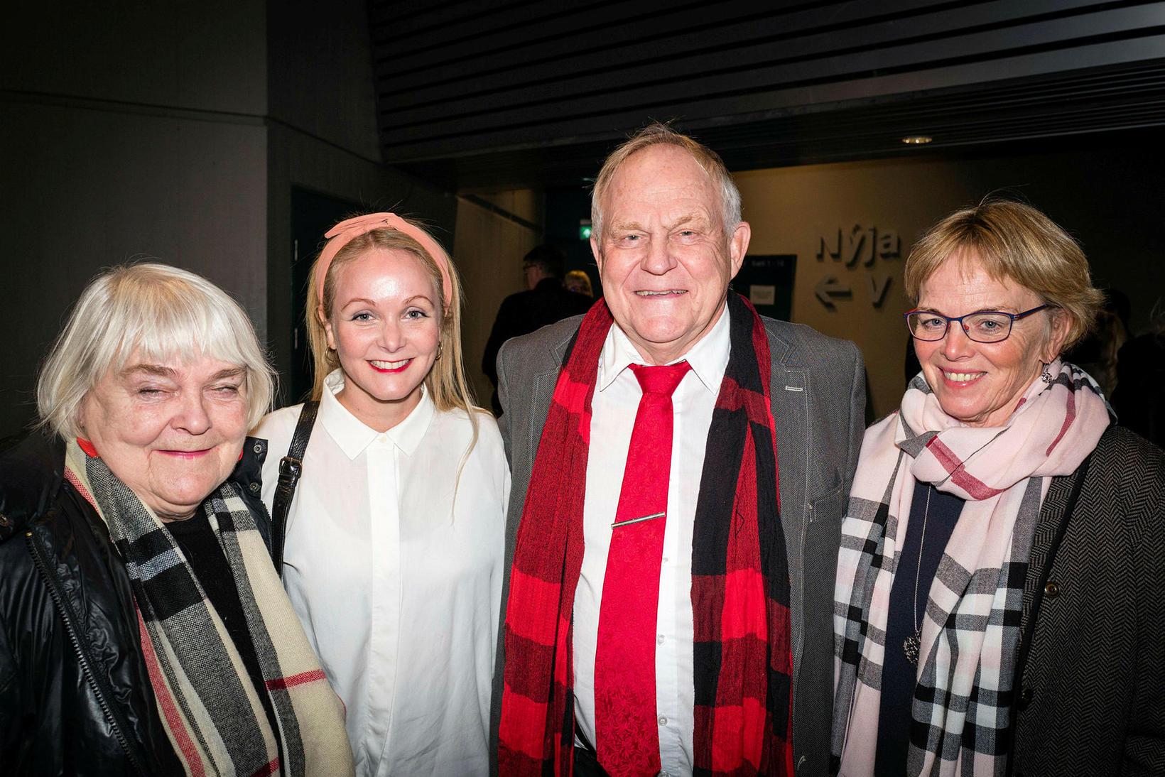 Ragna Sigrún Sveinsdóttir, Rán Ingvarsdóttir, Benedikt Sveinsson og Ragnhildur Jóhannsdóttir.