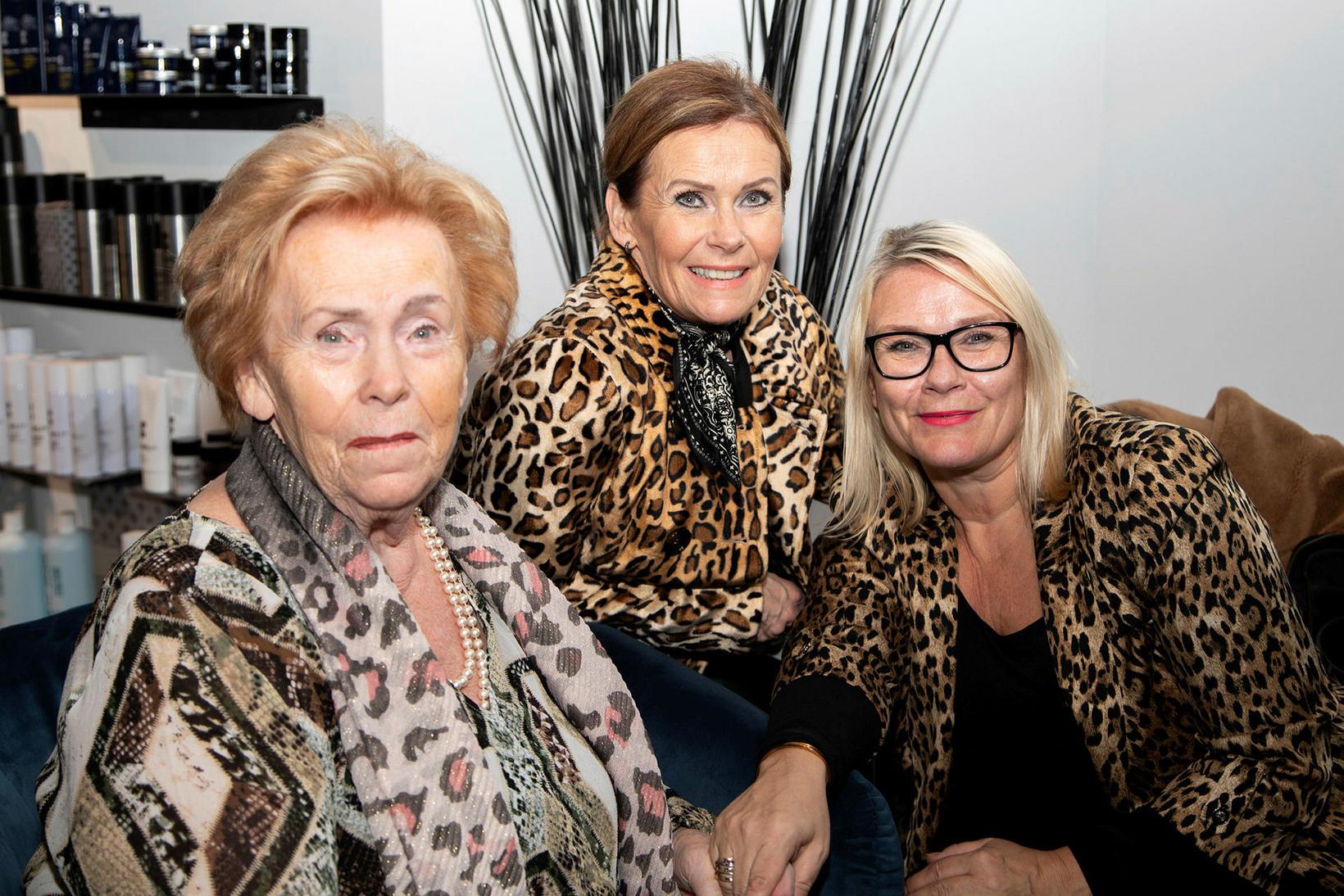 Kristín Magnúsdóttir, Kristín Sigurðardóttir og Inga Björg Sigurðardóttir.