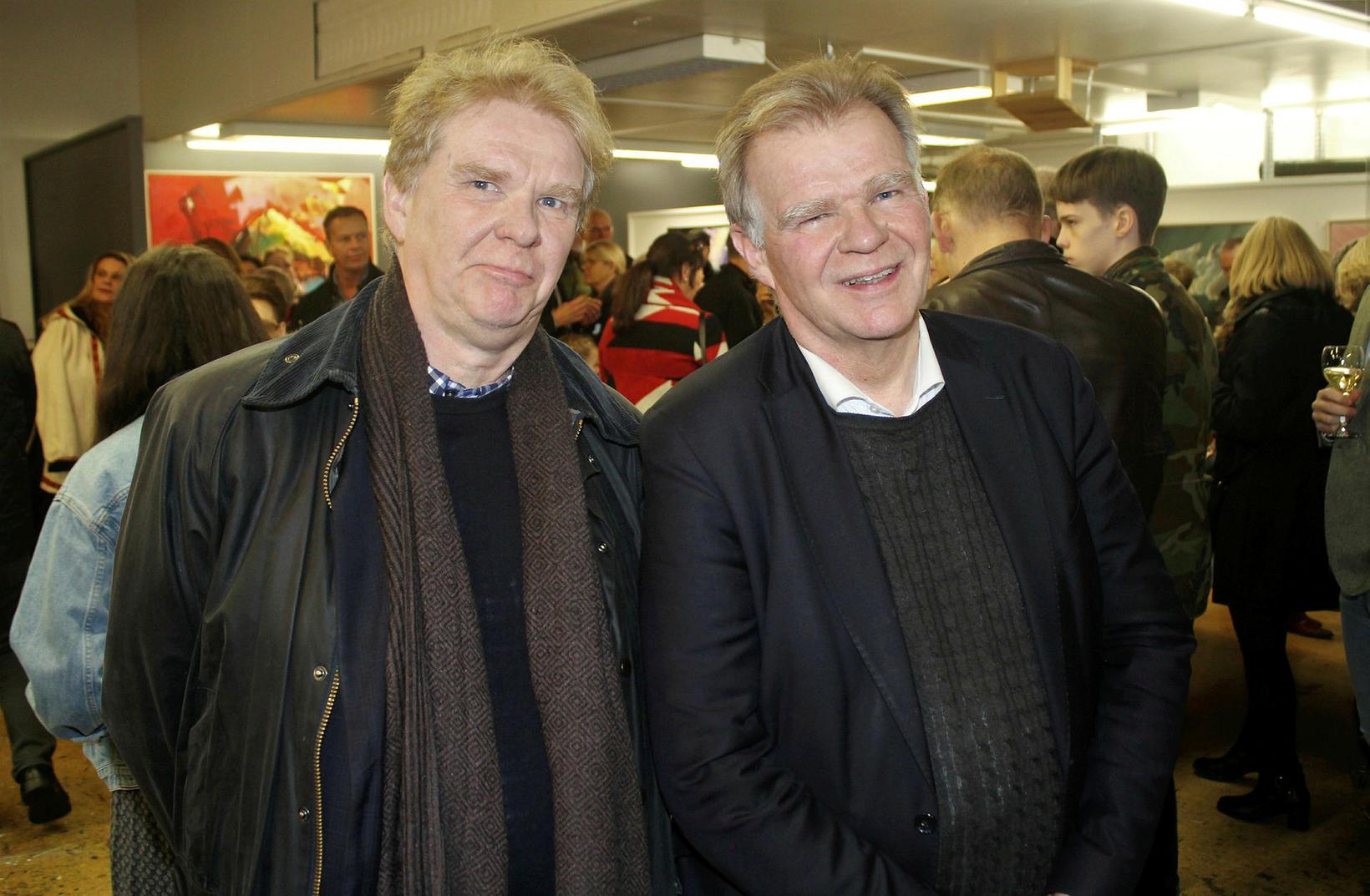 Bræðurnir Guðmundur Hrafn, prófessor við Háskóla Íslands, til vinstri og ...