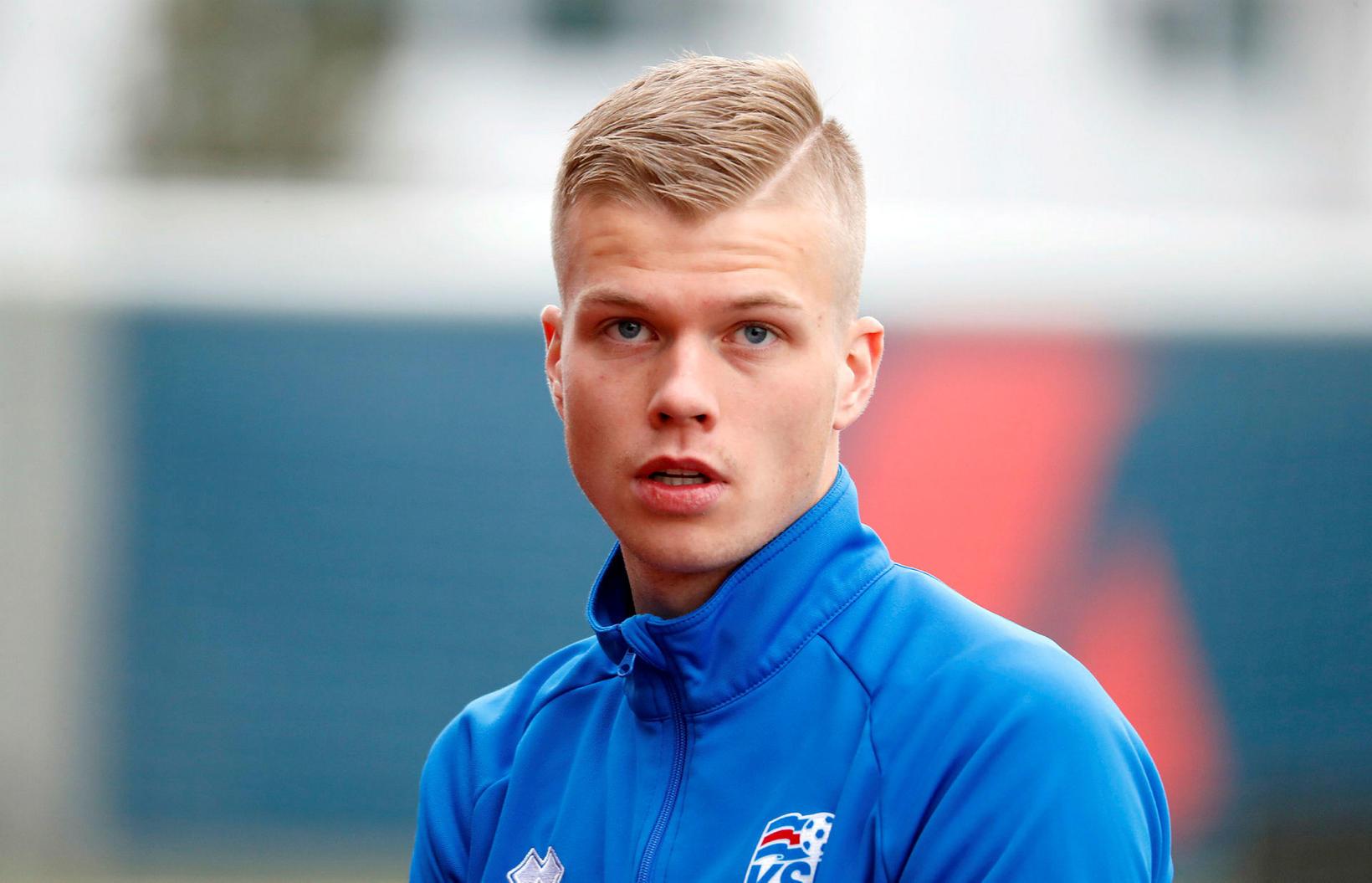 Samúel Kári Friðjónsson skoraði.