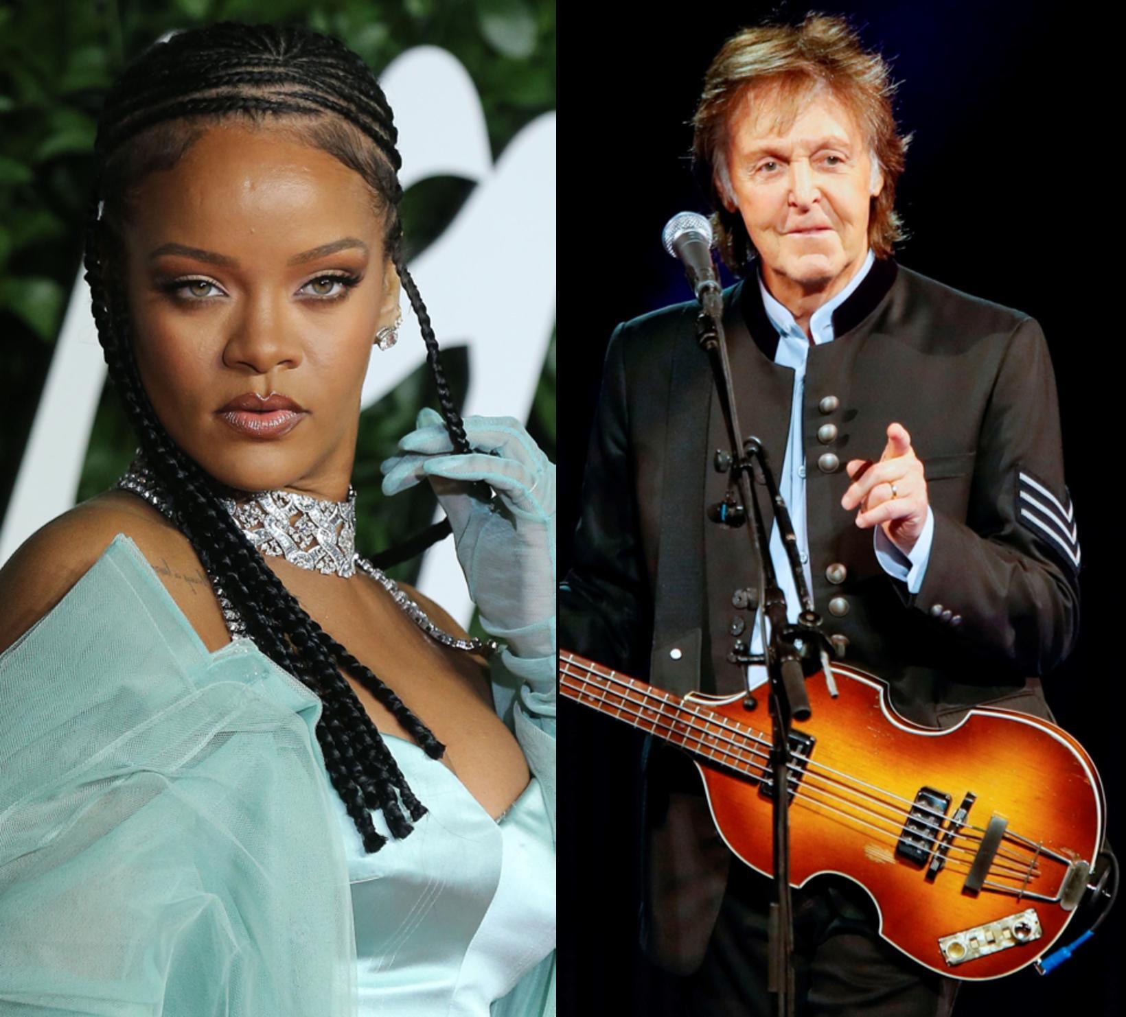 Rihanna og Paul McCartney.