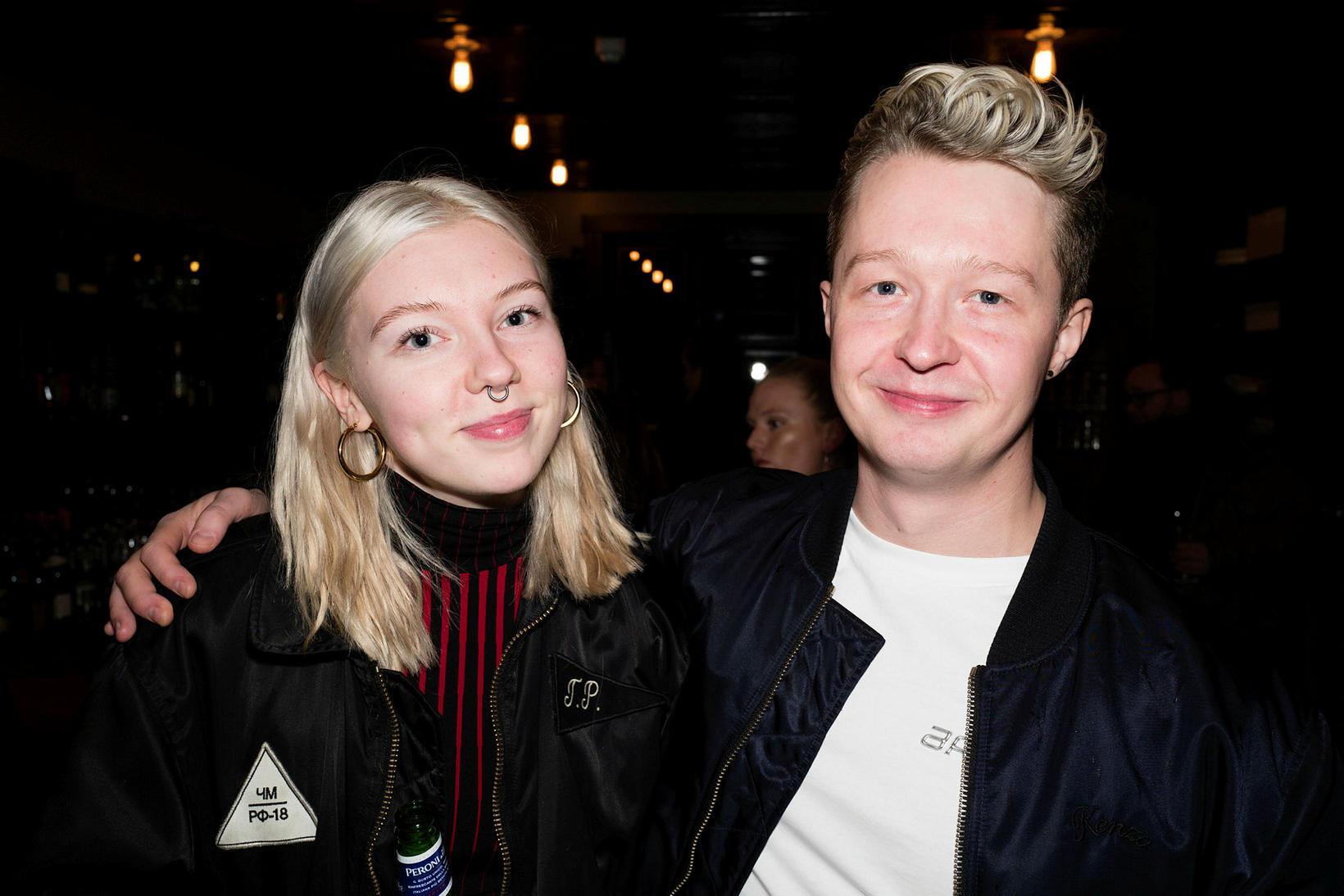 María Guðjohnsen og Björn Leó Brynjarsson.