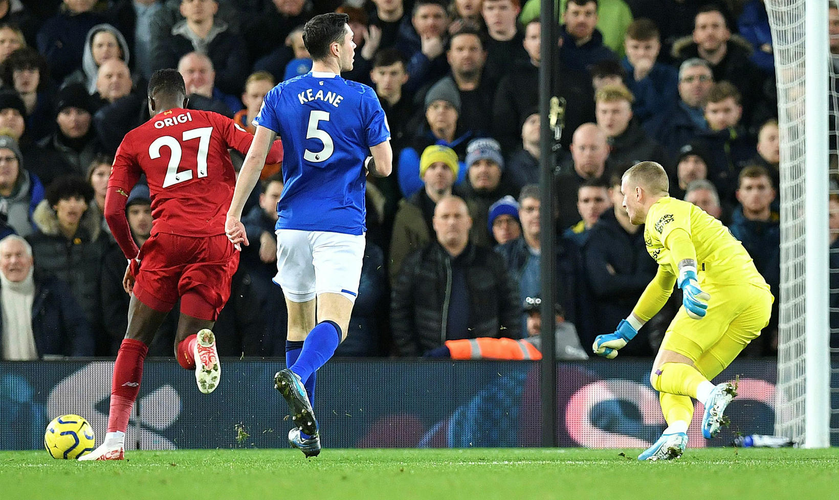 Divock Origi kom Liverpool í 1:0 á 6. mínútu.