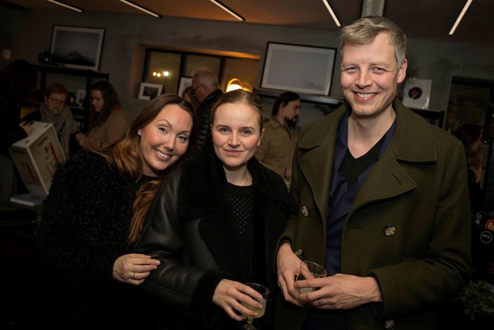 Harpa Káradóttir, Erna Einarsdóttir og Freyr Tómasson.