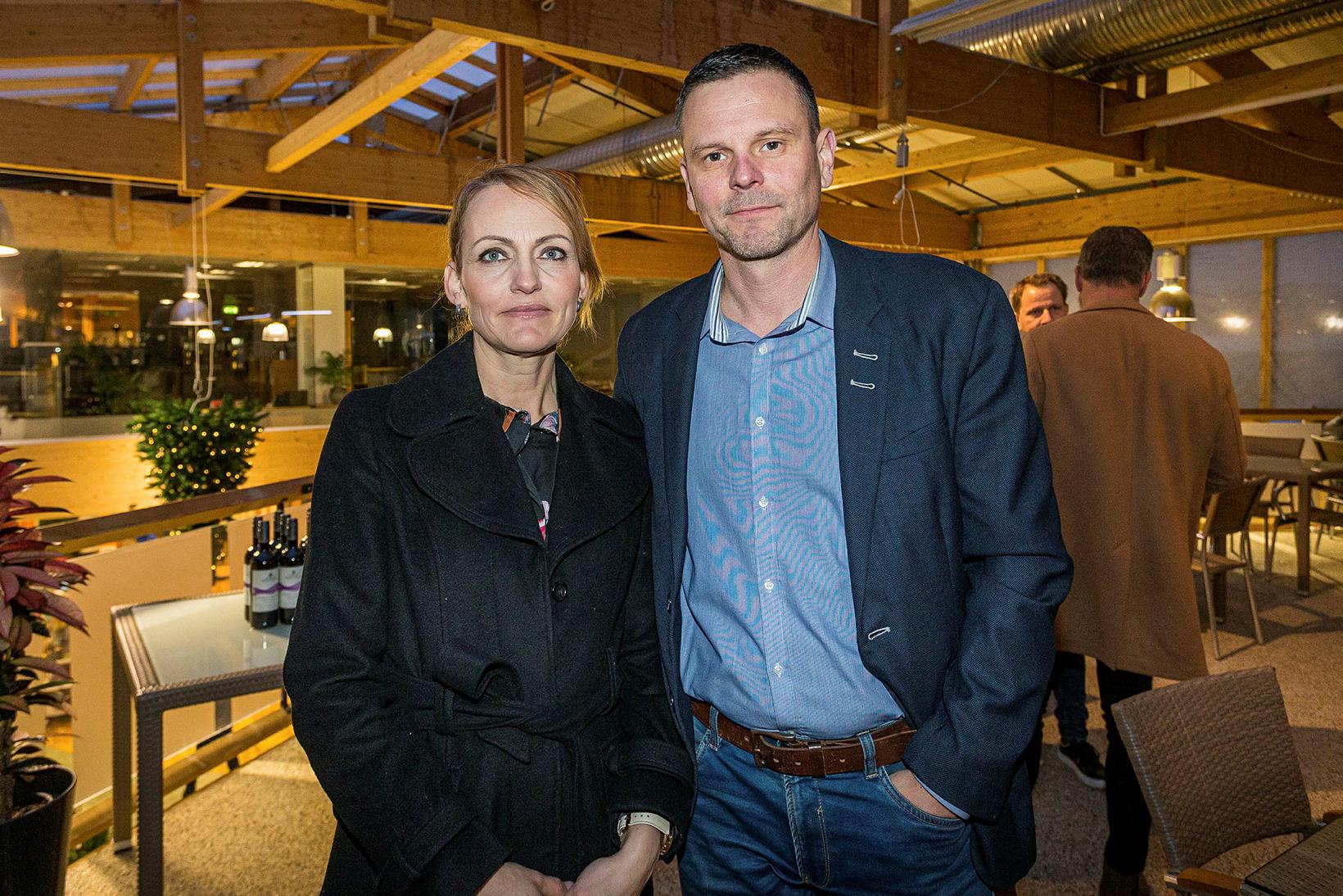 Helga P. Finnsdóttir og Haukur Hlíðkvist Ómarsson.