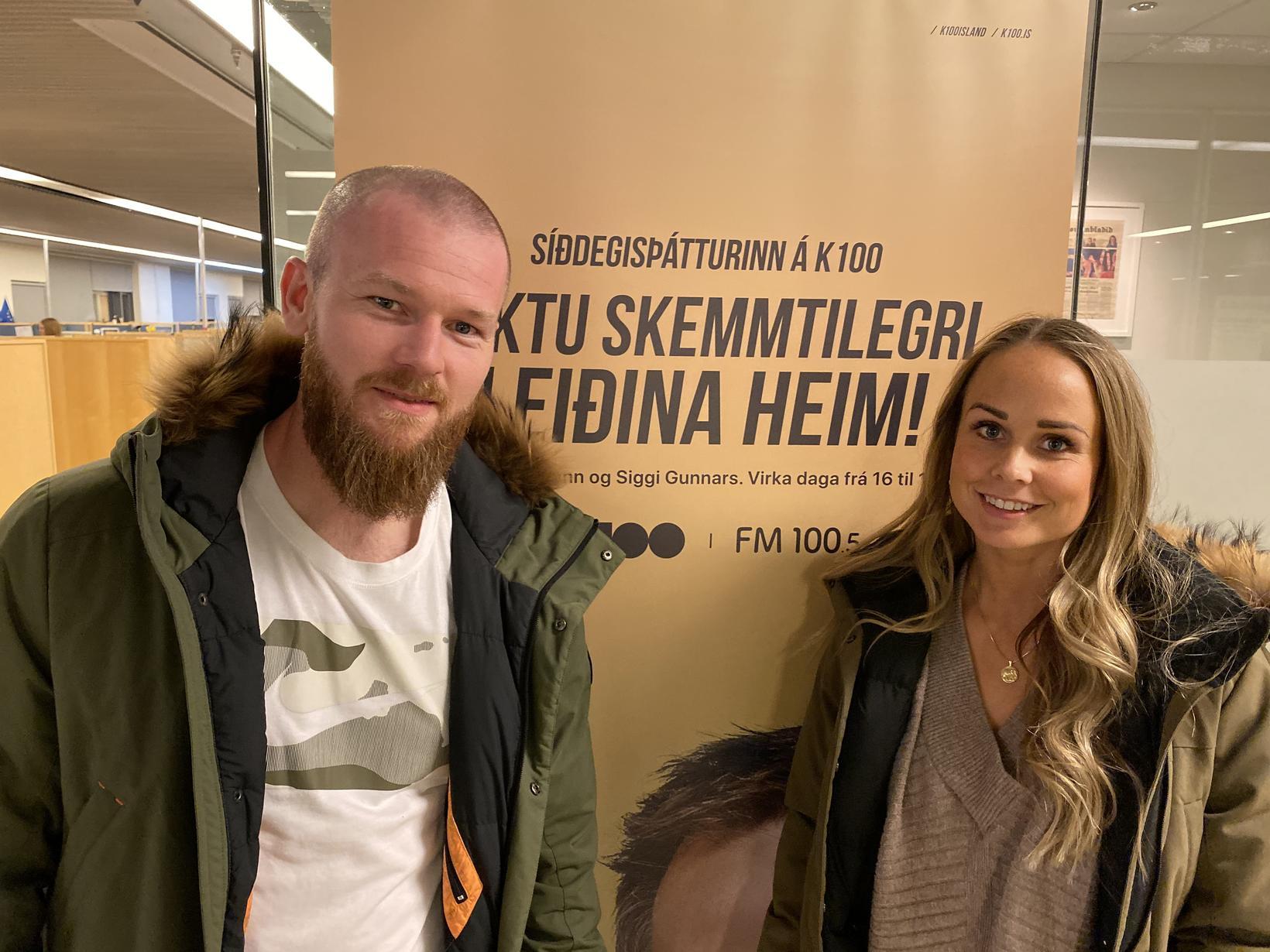 Hjónin Aron Einar Gunnarsson og Kristbjörg Jónasdóttir.