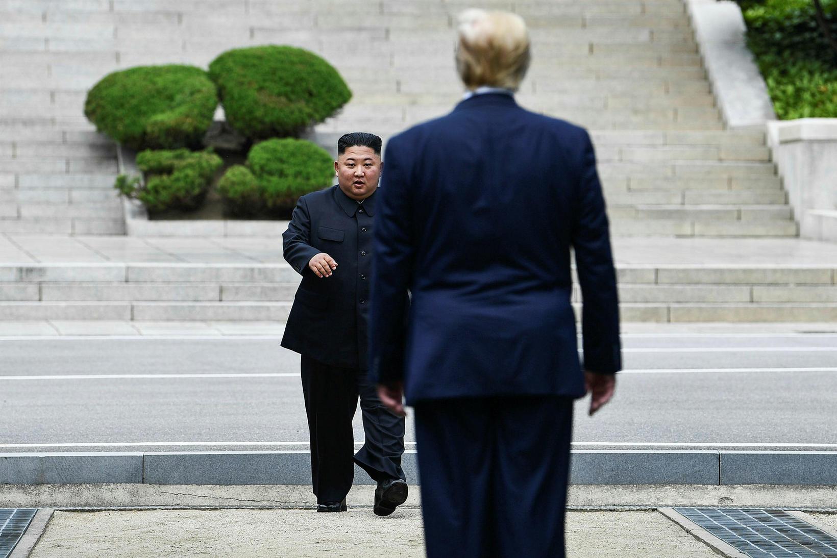 Kim Jong-un og Donald Trump.