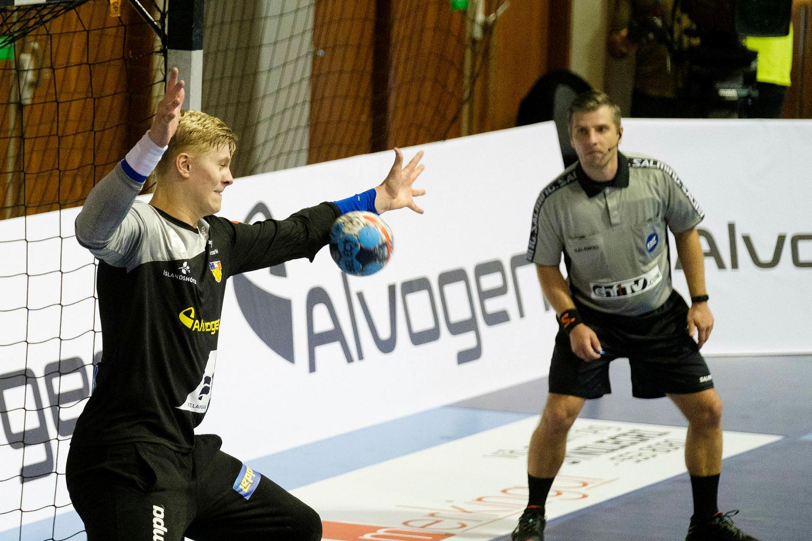 Viktor Gísli Hallgrímsson átti fínan leik.