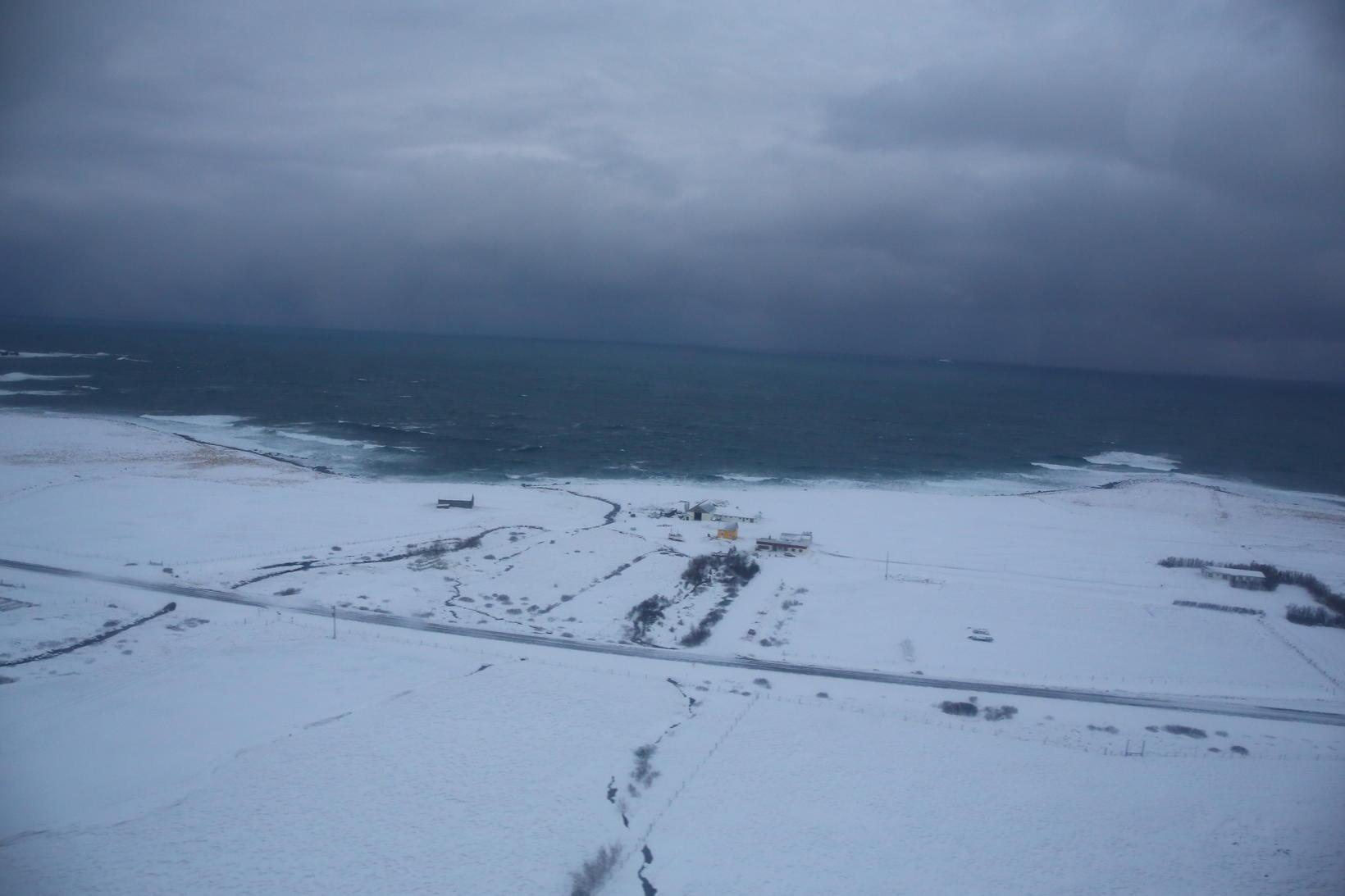 Horft yfir Tjörnesið - sjá má Mánárbakka á myndinni.
