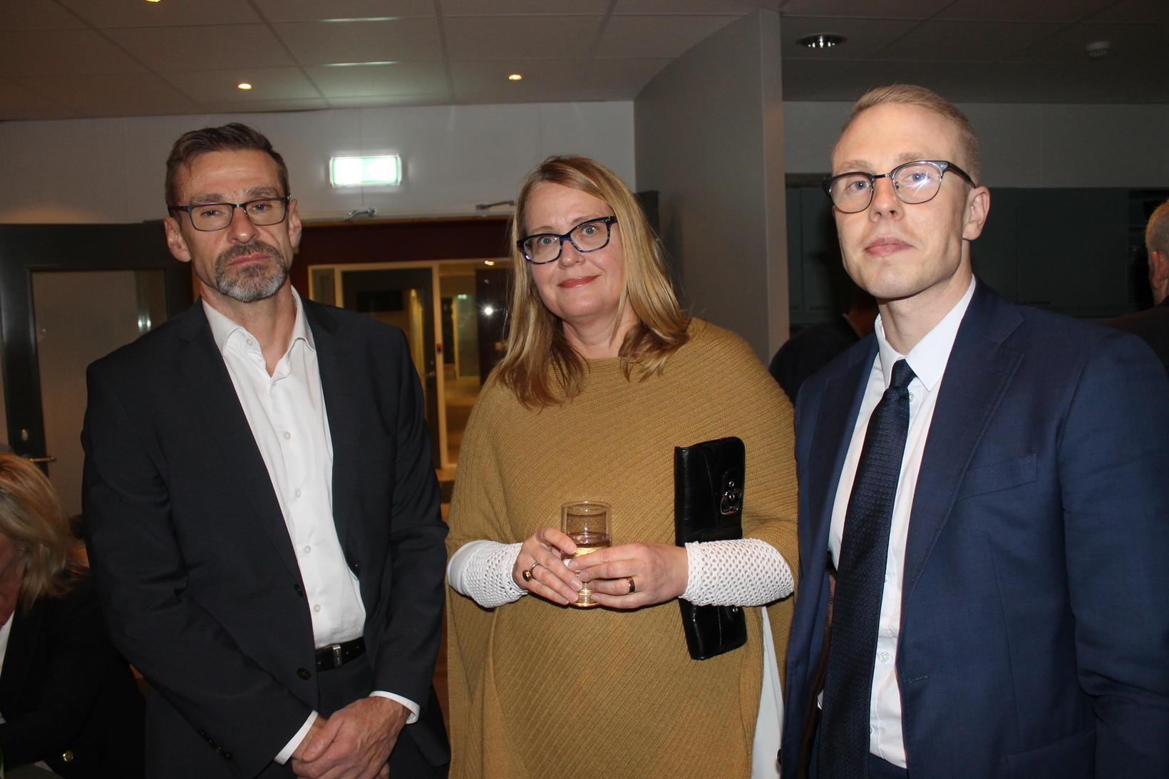 Helgi Magnús Gunnarsson, Áslaug Björgvinsdóttir og Kristinn Svansson.