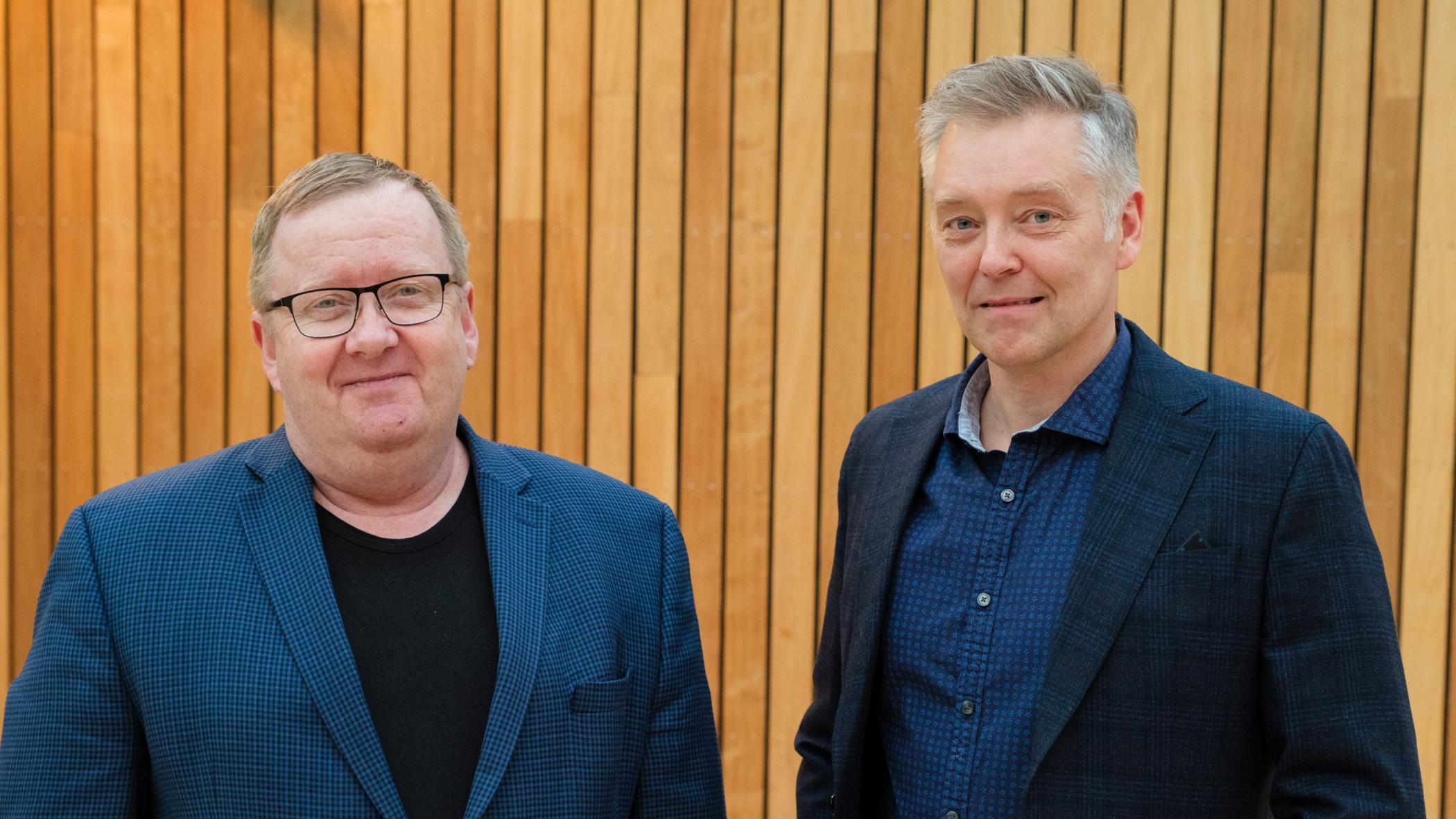 Þorgeir Þorgeirsson og Hreinn Magnússon starfa við erfðarannsóknir hjá Íslenskri …