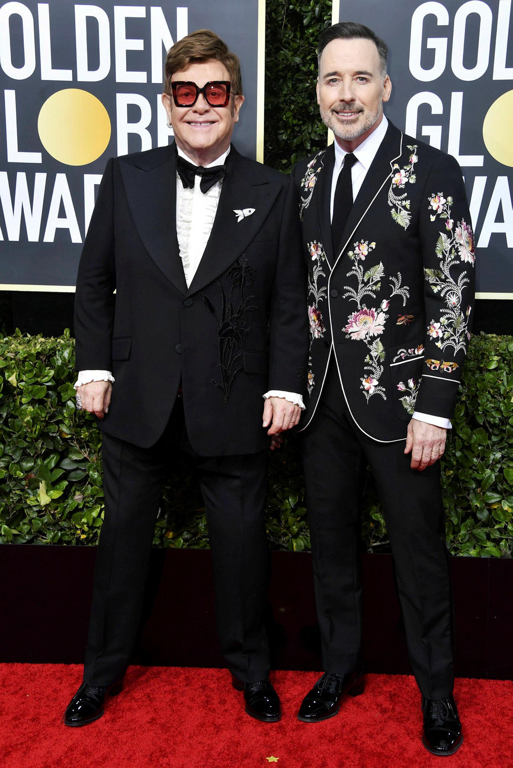 Elton John og David Furnish eiga tvo syni.