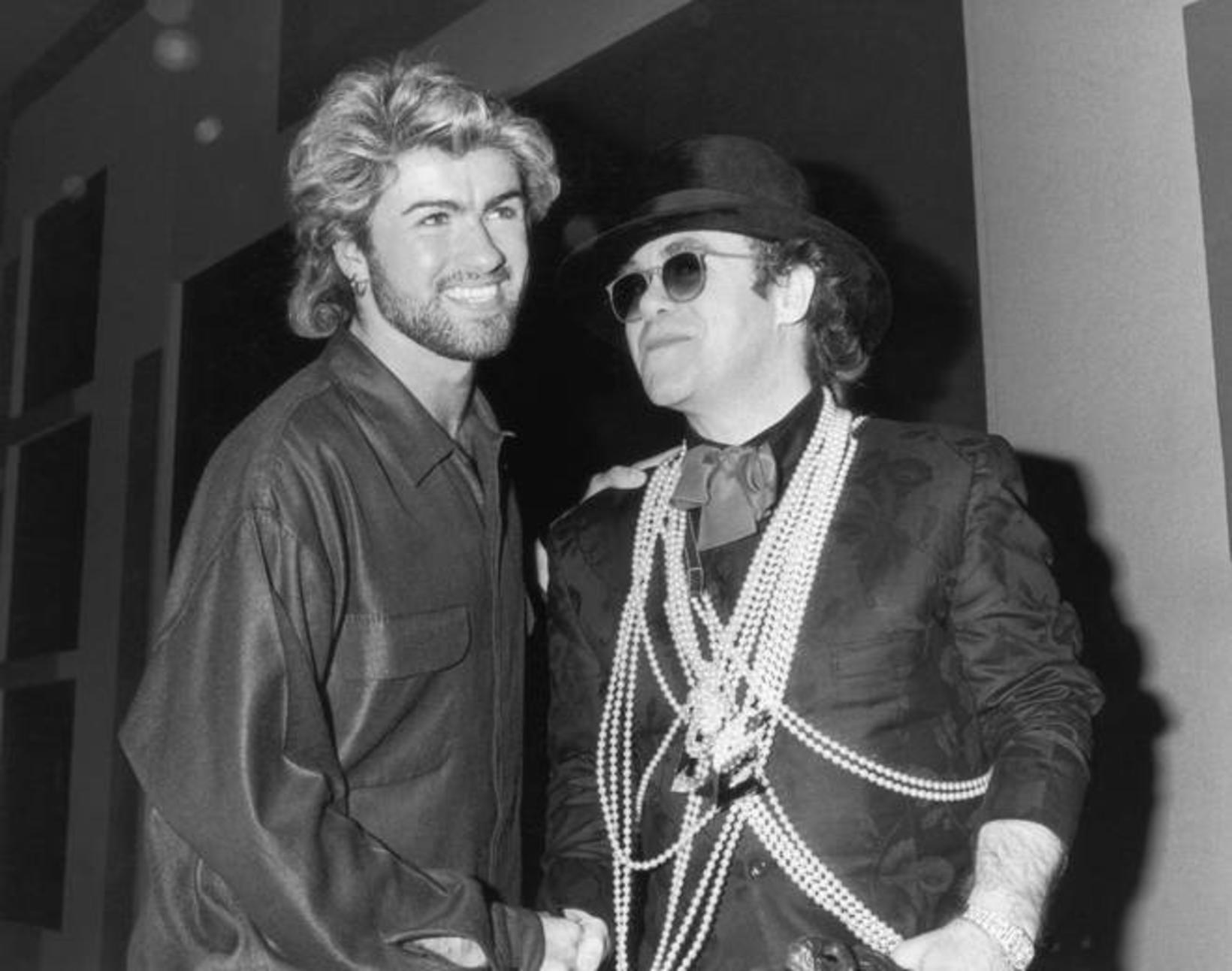 Þeir félagar George Michael og Elton John verða eflaust fyrirferðamiklir …