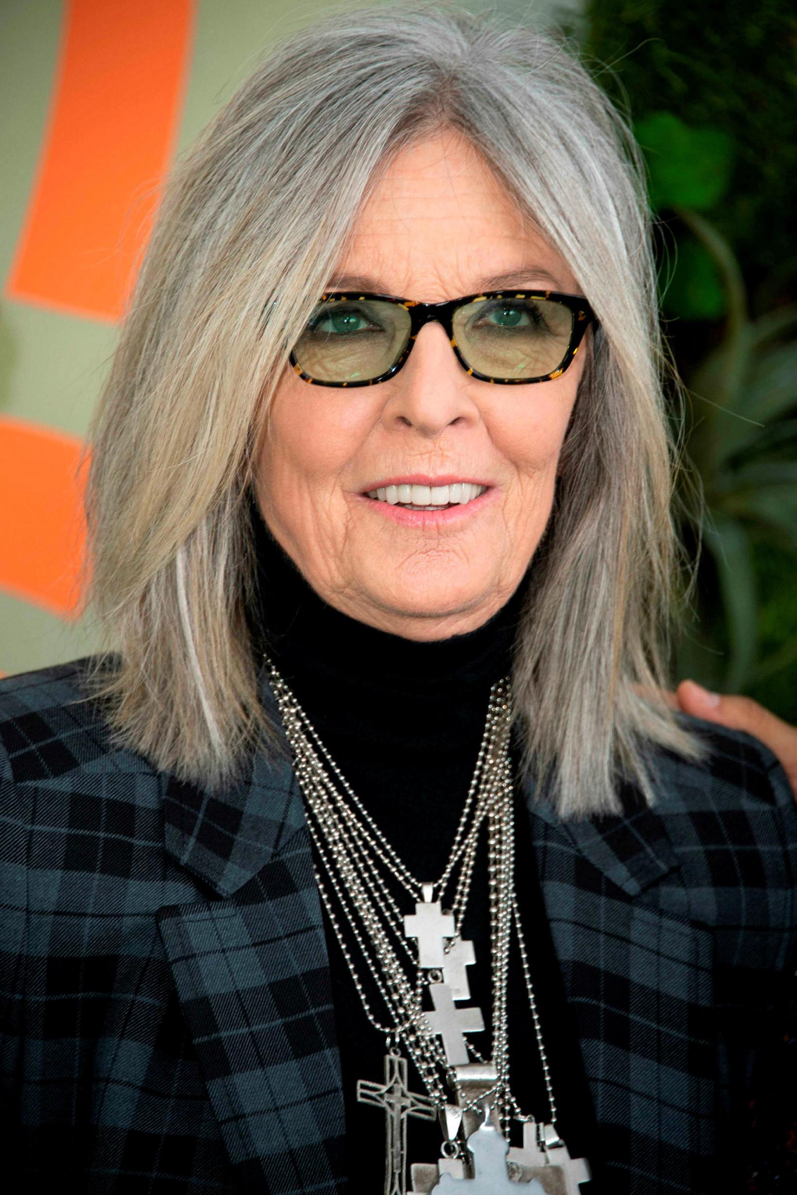 Diane Keaton hefur verið með grátt hár lengi.