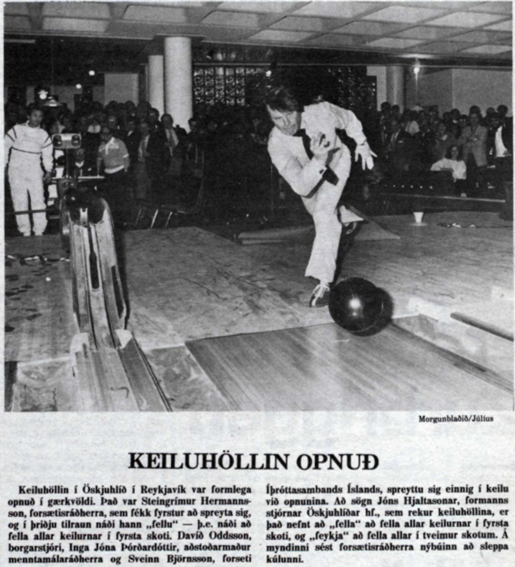 Frétt Morgunblaðsins hinn 2. febrúar 1985.