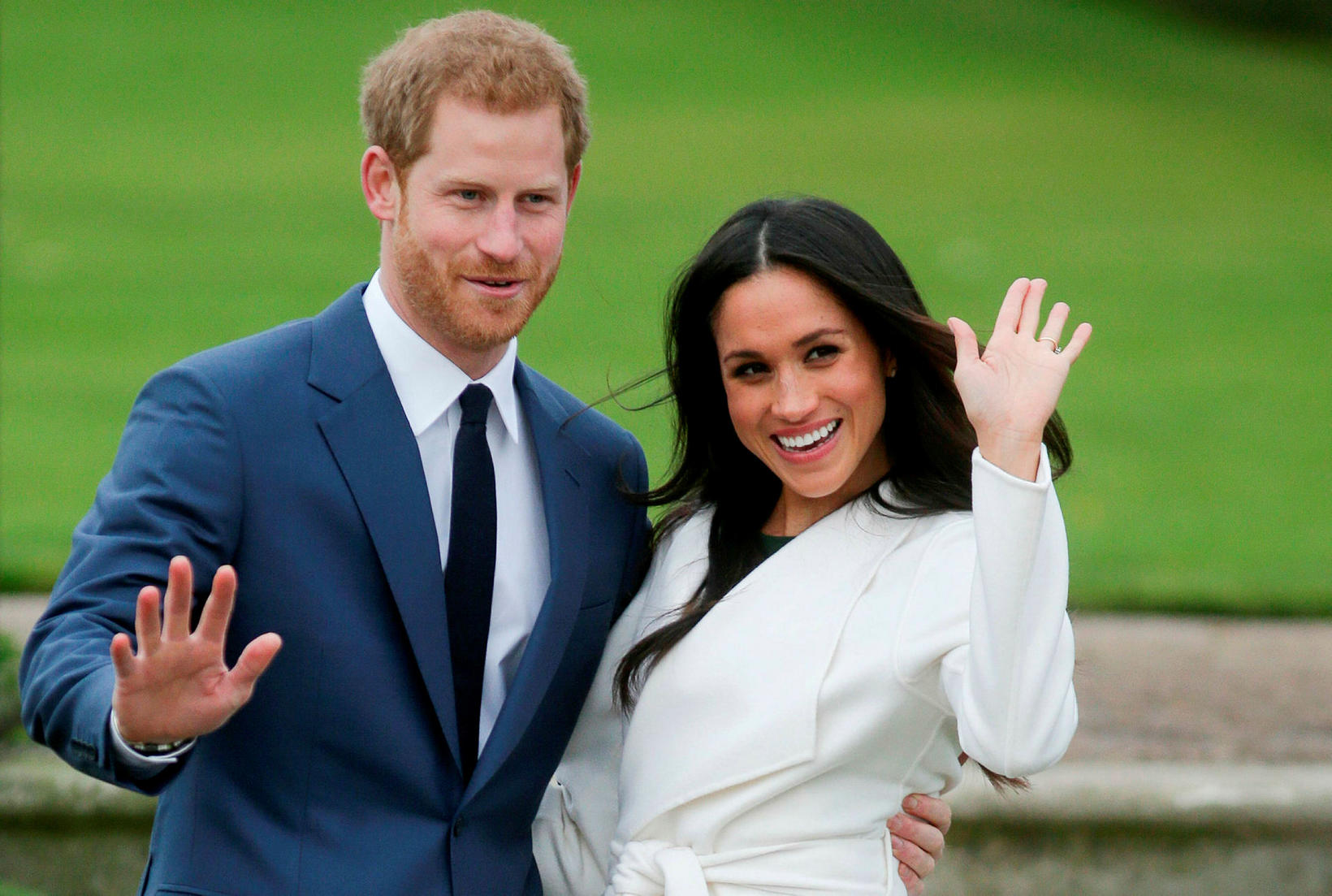 Harry Bretaprins og Meghan Markle, hertogahjónin af Sussex. Óvíst er …