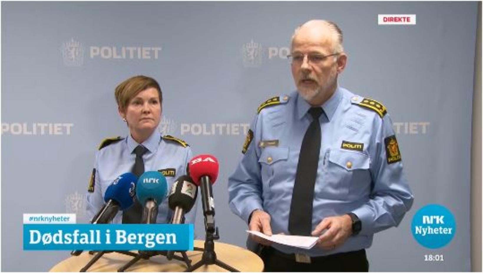 Inger-Lise Høyland frá ákærudeild lögreglunnar í Bergen og Tore Salvesen …
