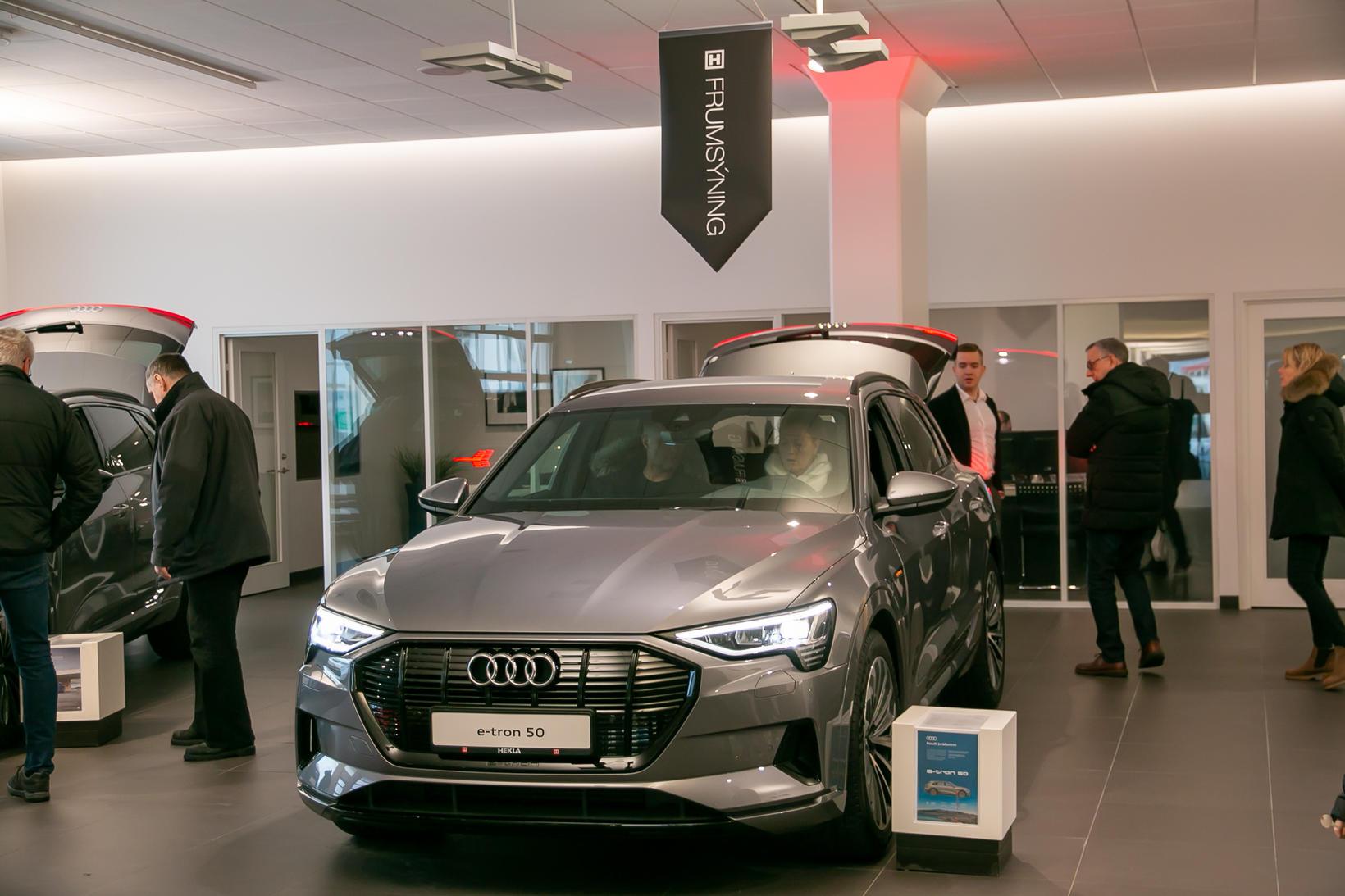 Audi e-tron 50 á stórsýningu Heklu um nýliðna helgi.