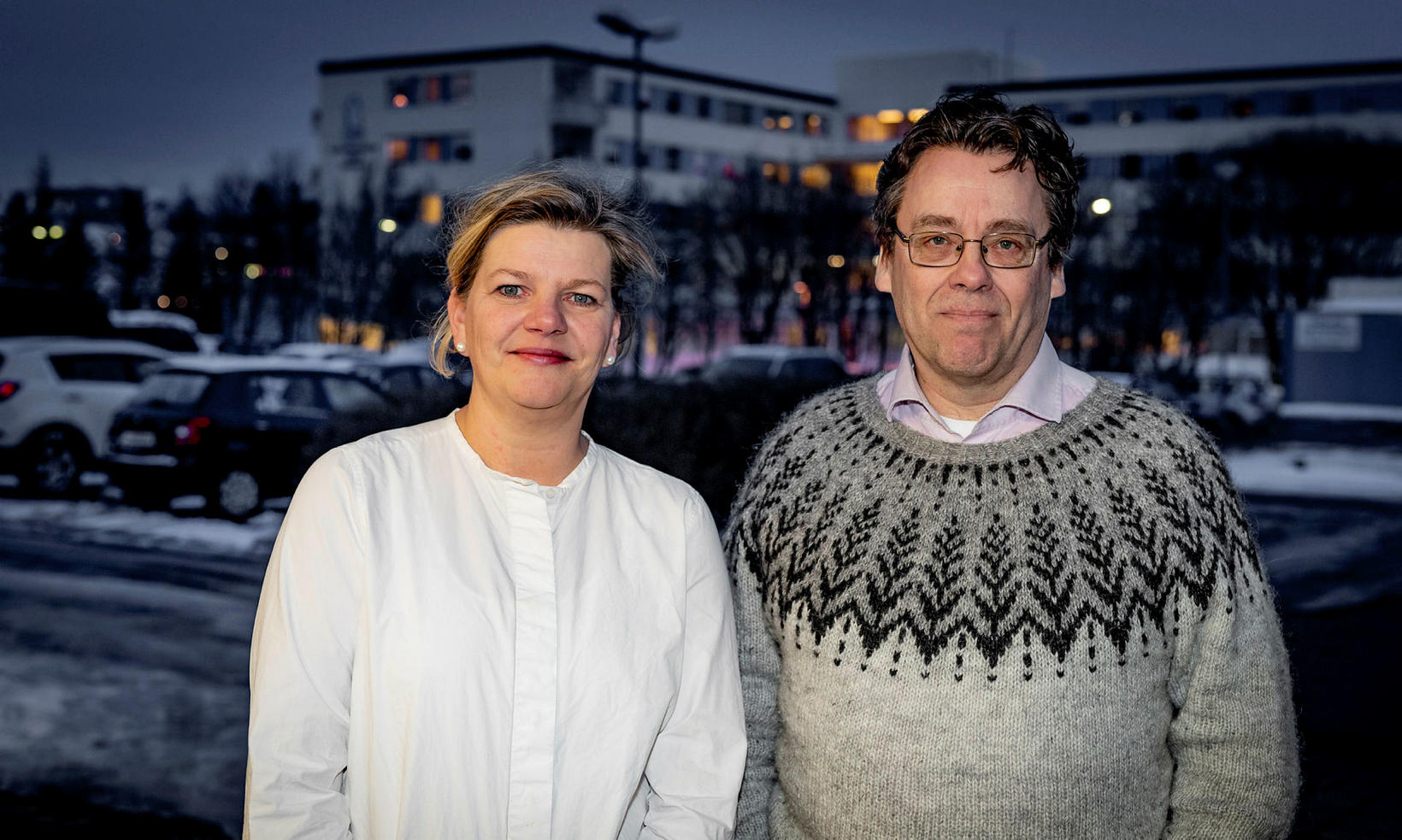 Gunnlaug Thorlacius, formaður Geðverndarfélags Íslands, og Kjartan Valgarðsson, framkvæmdastjóri félagsins.