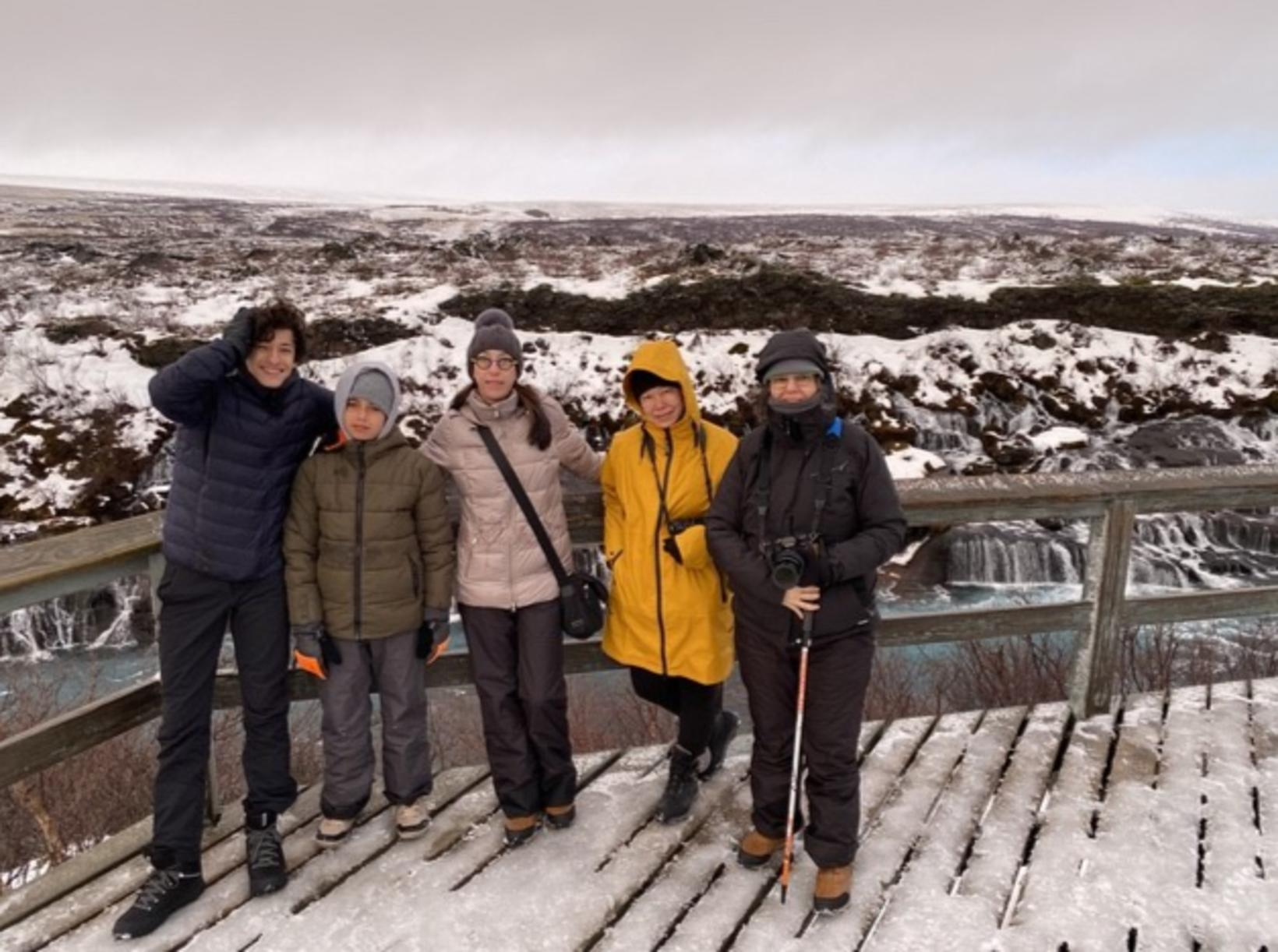 The group of five, before taking the trip to Langjökull.