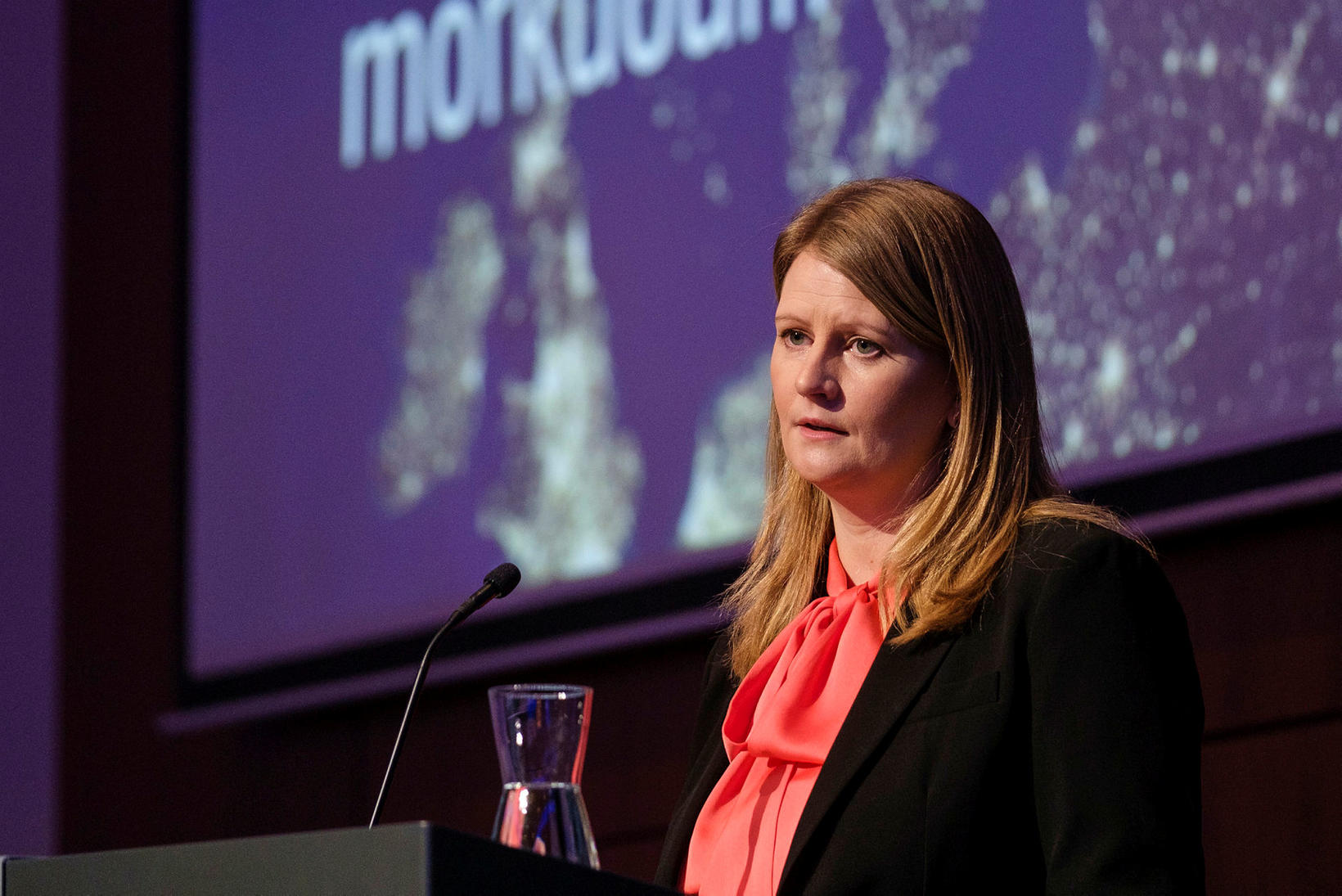 Tinna Traustadóttir, forstöðumaður viðskiptastýringar, stýrði fundinum.