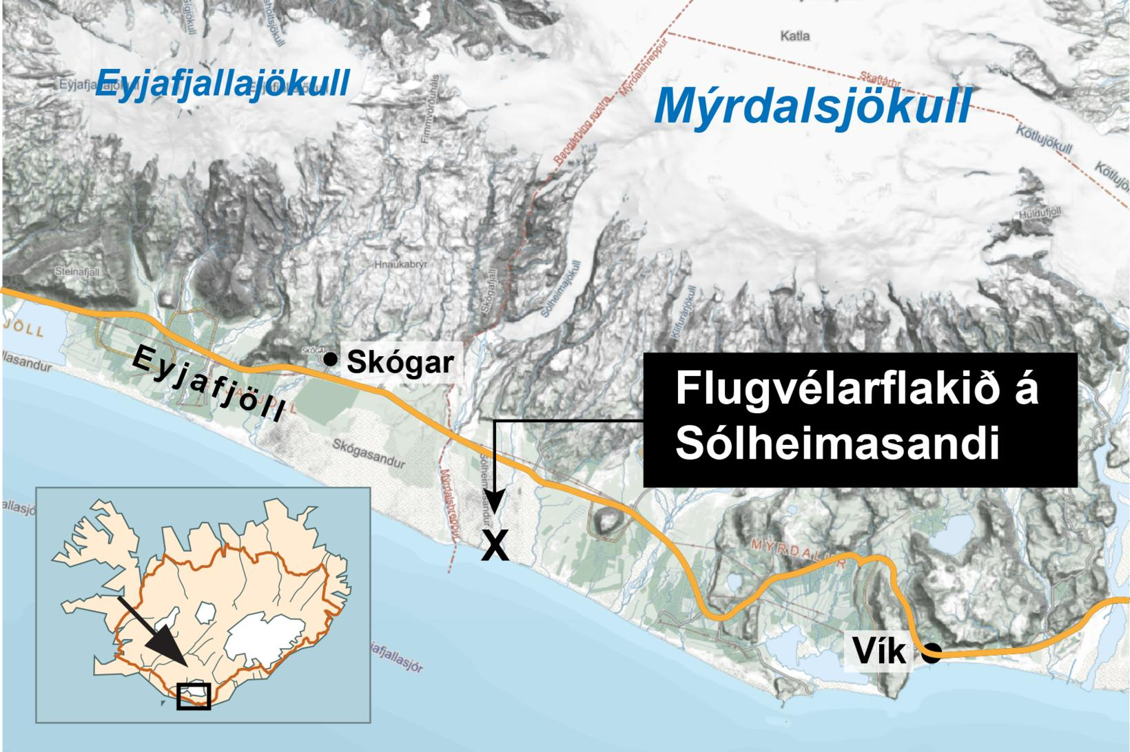 The map shows where the bodies were discovered.