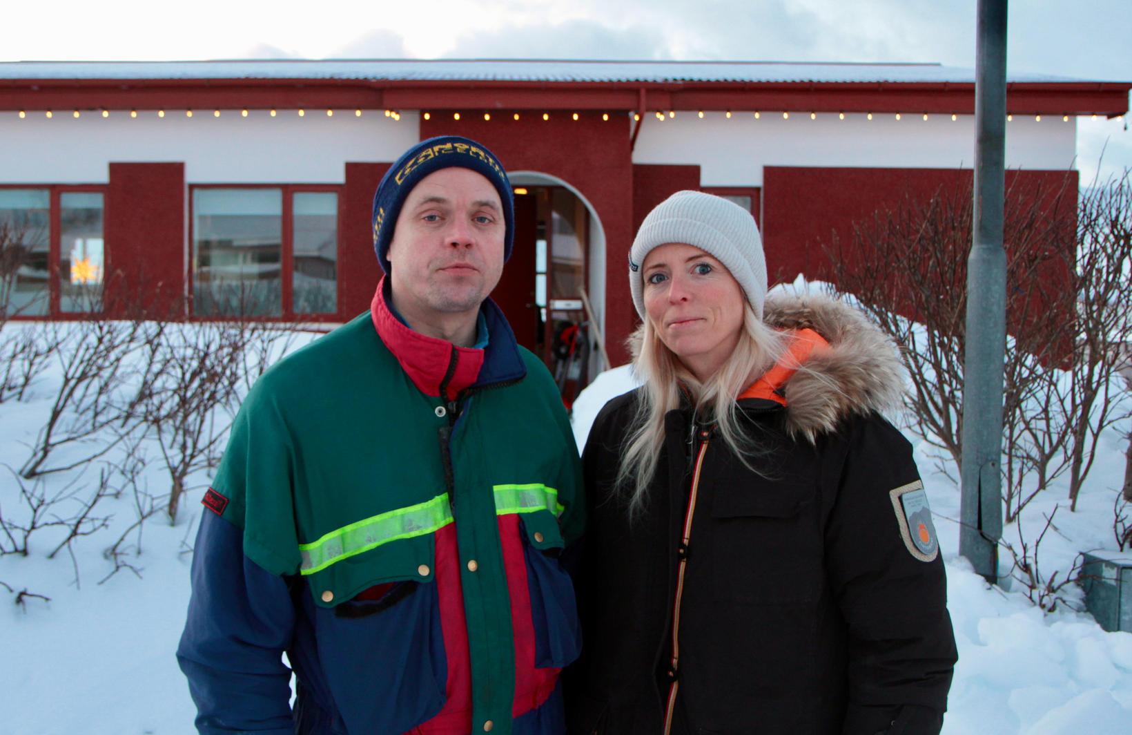 Systkinin Birkir Jónas Einarsson og Steinunn Guðný Einarsdóttir á Flateyri …