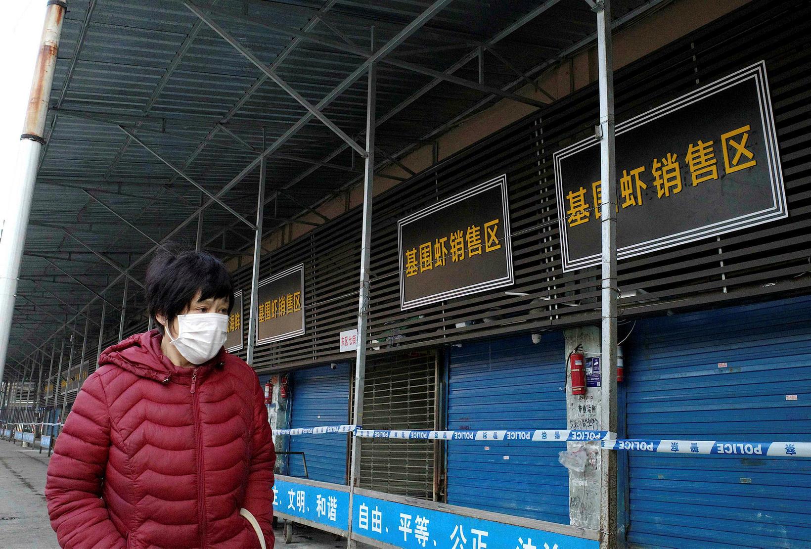 Upptök sjúkdómsins hafa verið talin á sjávarréttamarkaði í borginni Wuhan …