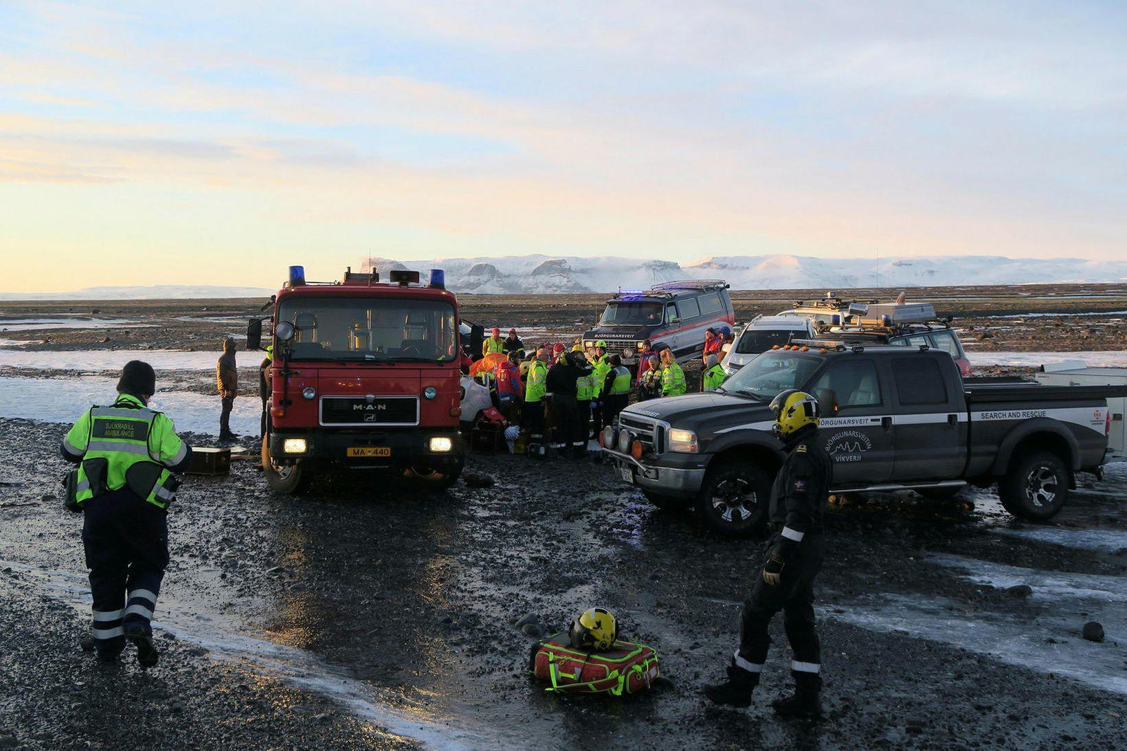 From the site of the accident in South Iceland.