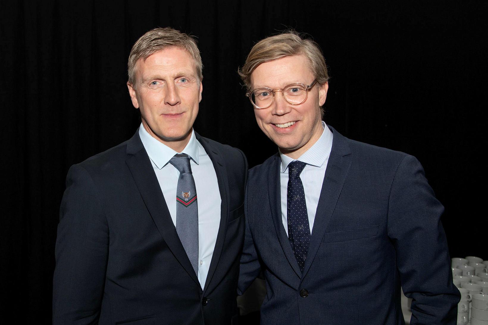 Rúnar Kristinsson og Gísli Marteinn Baldursson.