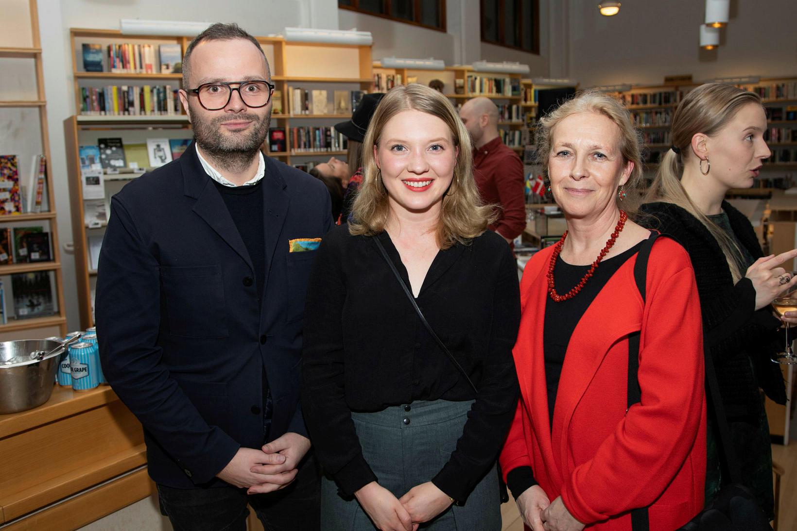 Greipur Gíslason, Satu-Tuuli Karhu og Ann-Sofie Stude.