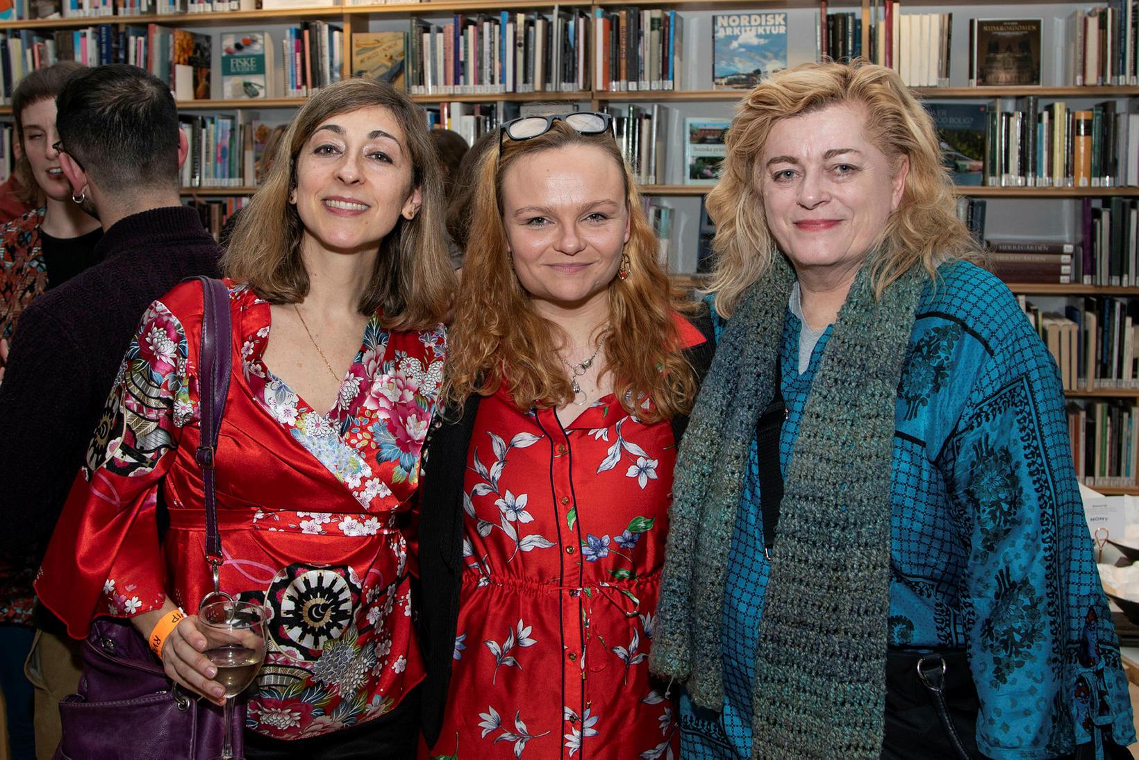 Alexía Muinos Ruiz, Lea Ævars og Gabriell Kelly.