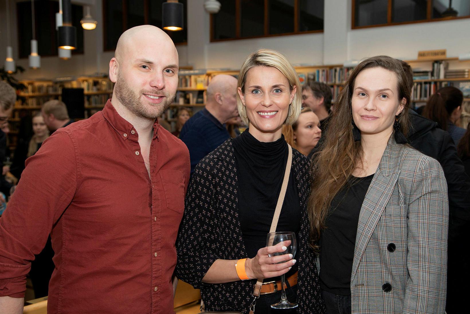 Grétar Jónsson, Freyja Kristinsdóttir og Eva Rós Stefánsdóttir.