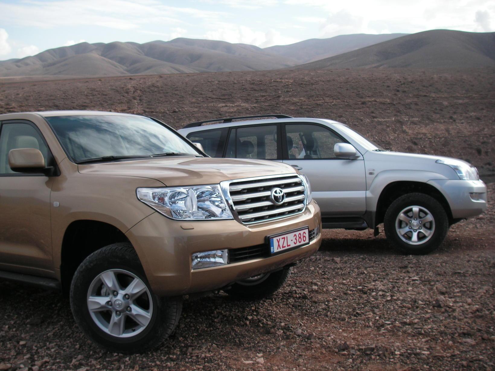 Toyota Land Cruiser var tekinn til kostanna við reynsluakstur blaðamanna …