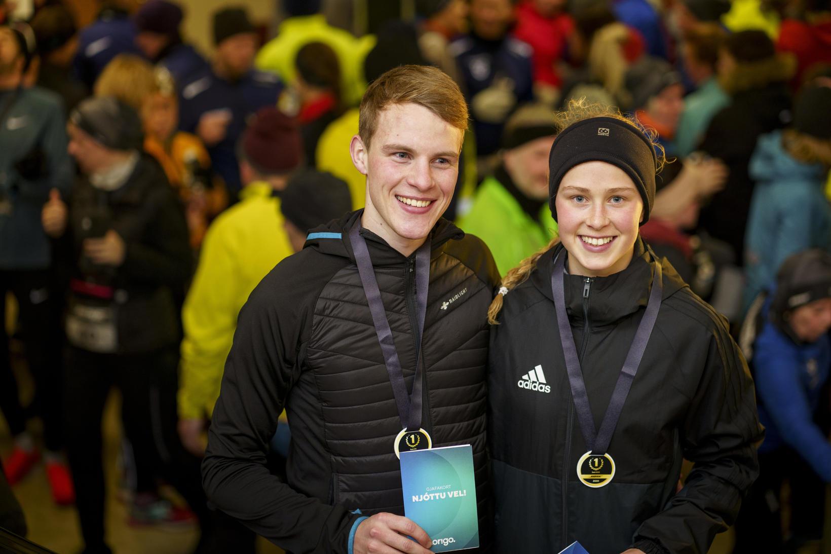 Ingvar Hjartarson og Andrea Kolbeinsdóttir fóru fimm kílómetrana hraðast í …