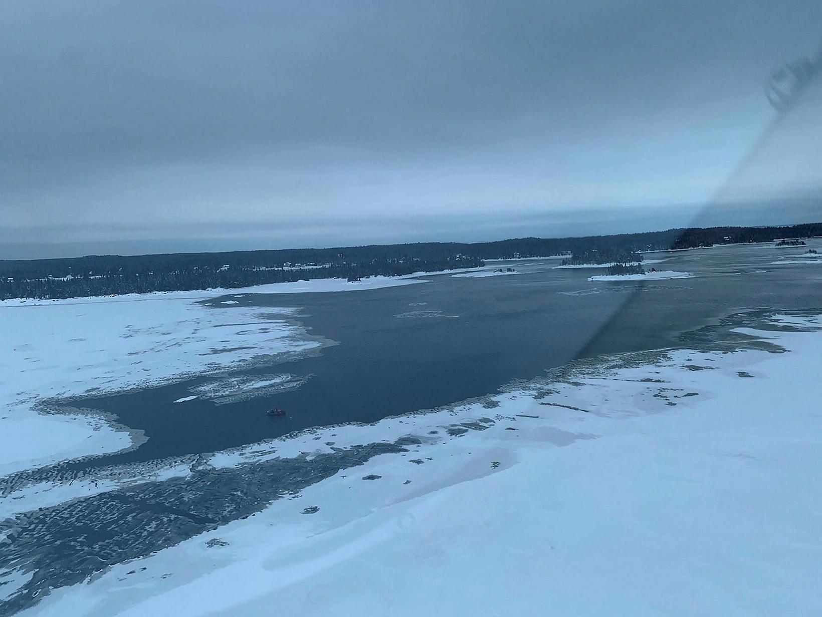 Leitarsvæðið í kringum Beemer-eyju skammt frá Lac-Saint-Jean.