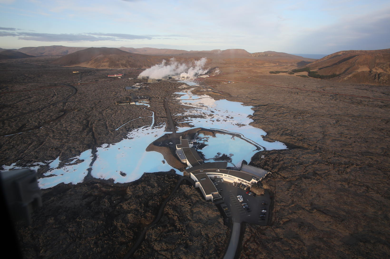 The Blue Lagoon. Þorbjörn mountain is on the right. Scientists …