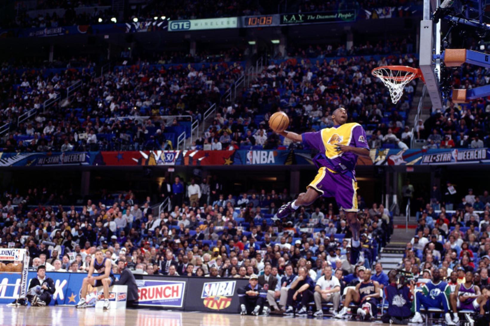 Kobe Bryant stal senunni í toðslukeppninni á sínu fyrsta ári.