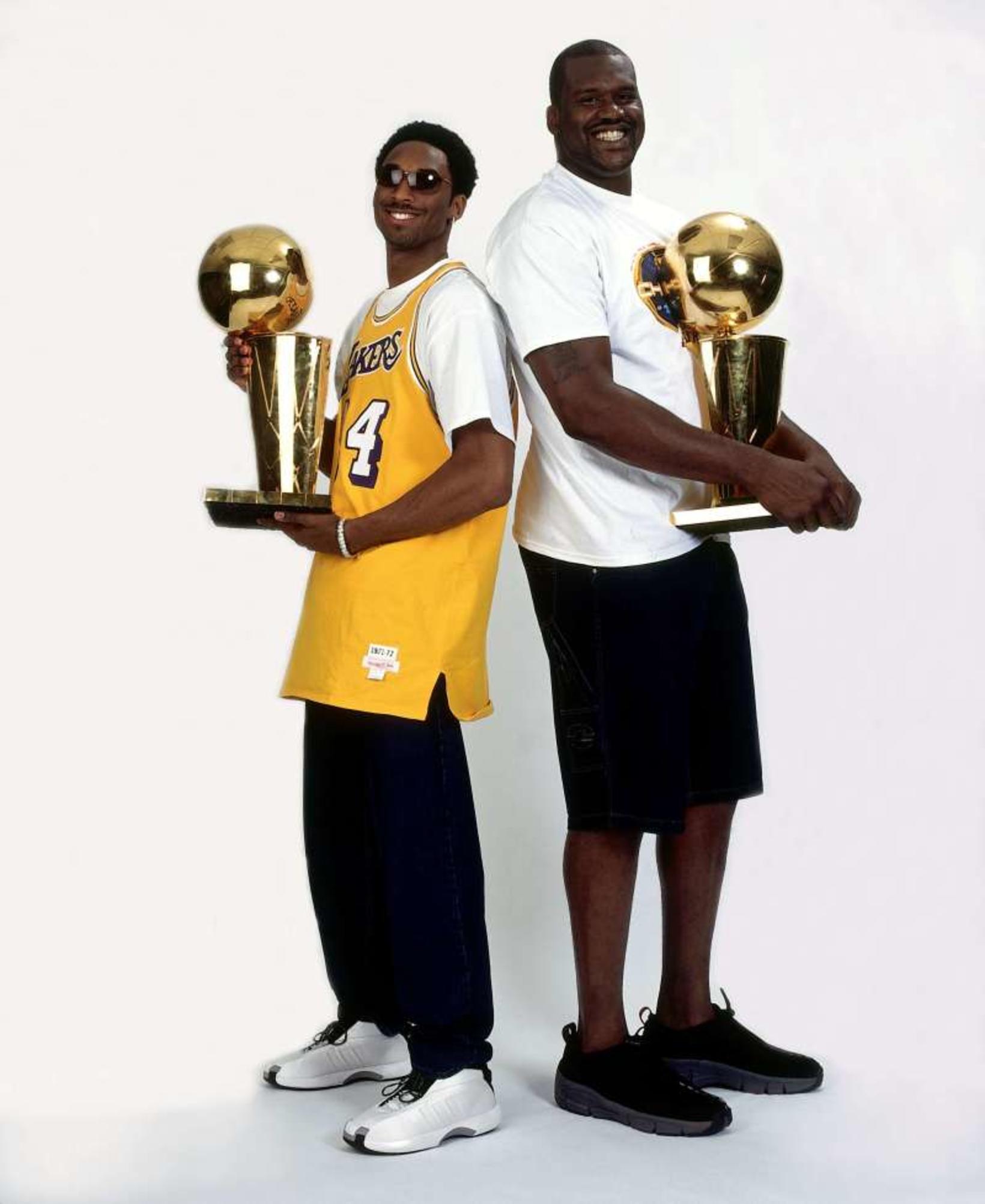 Kobe Bryant og Shaquille O'Neil voru óstöðvandi saman.