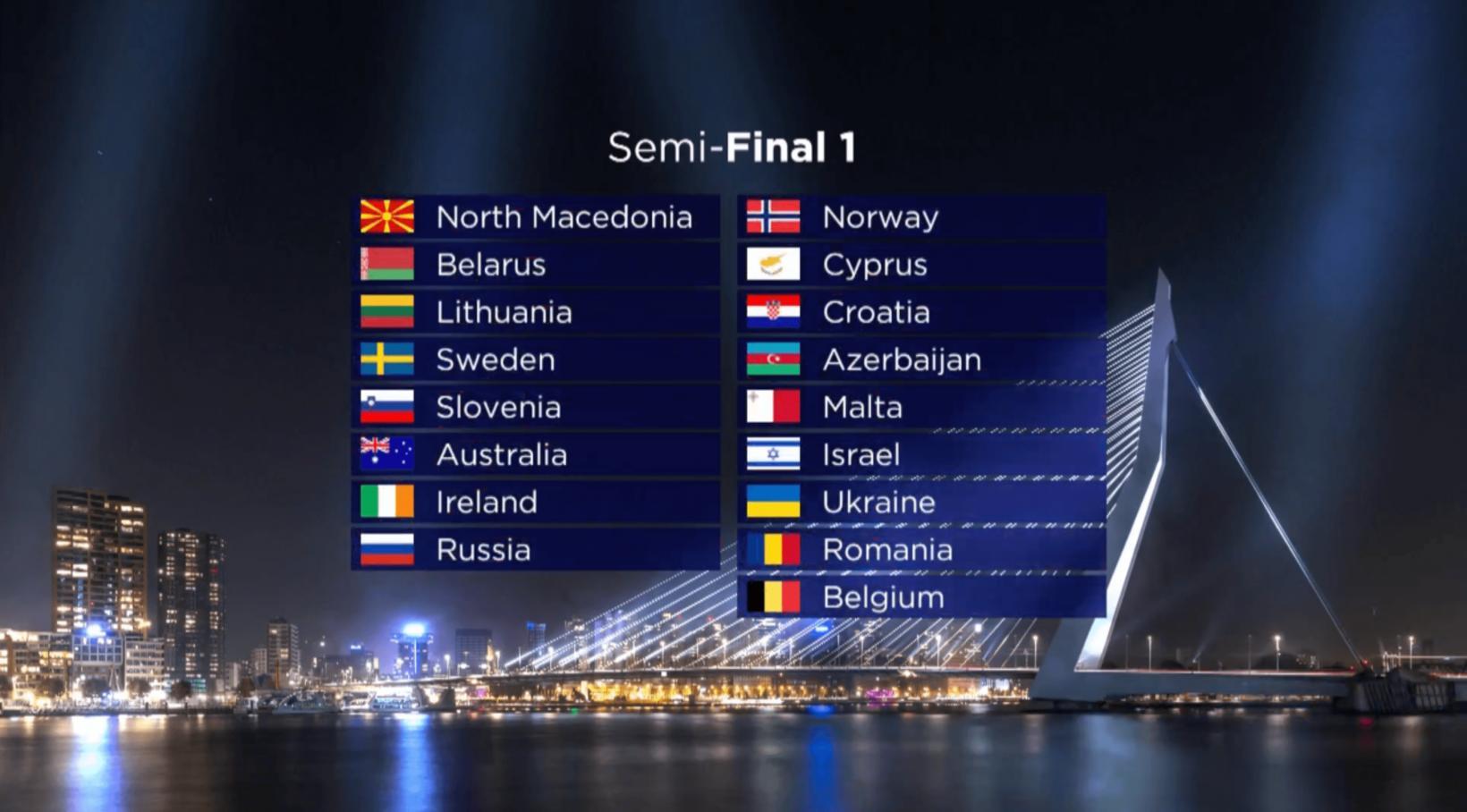 Fyrri undanriðill Eurovision fer fram 12. maí.