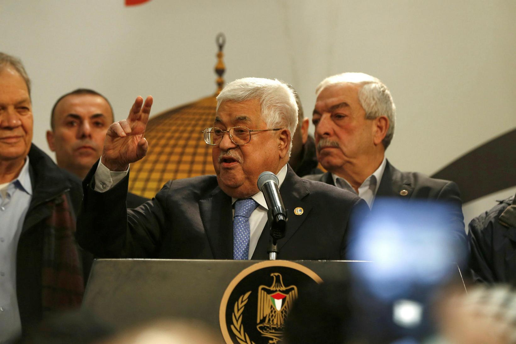 Mahmoud Abbas, forseti Palestínu, segir réttindi Palestínumanna ekki til sölu …