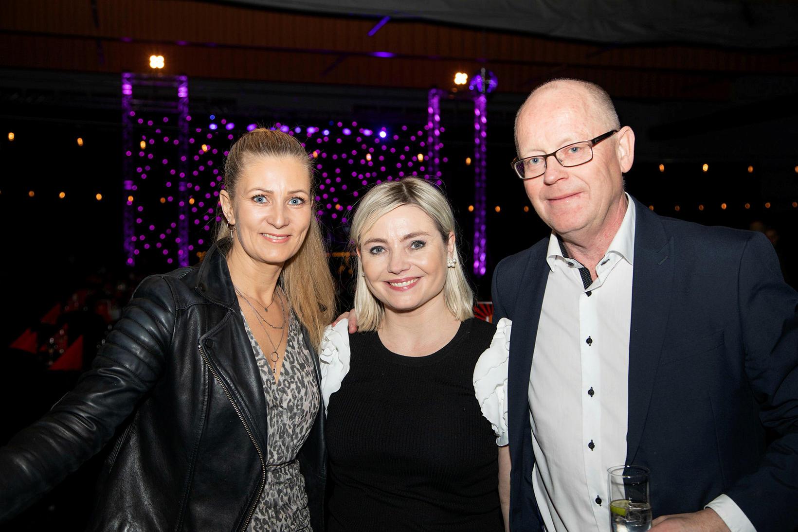 Erna Björk, Lilja Alfreðsdóttir og Halldór Jónsson.