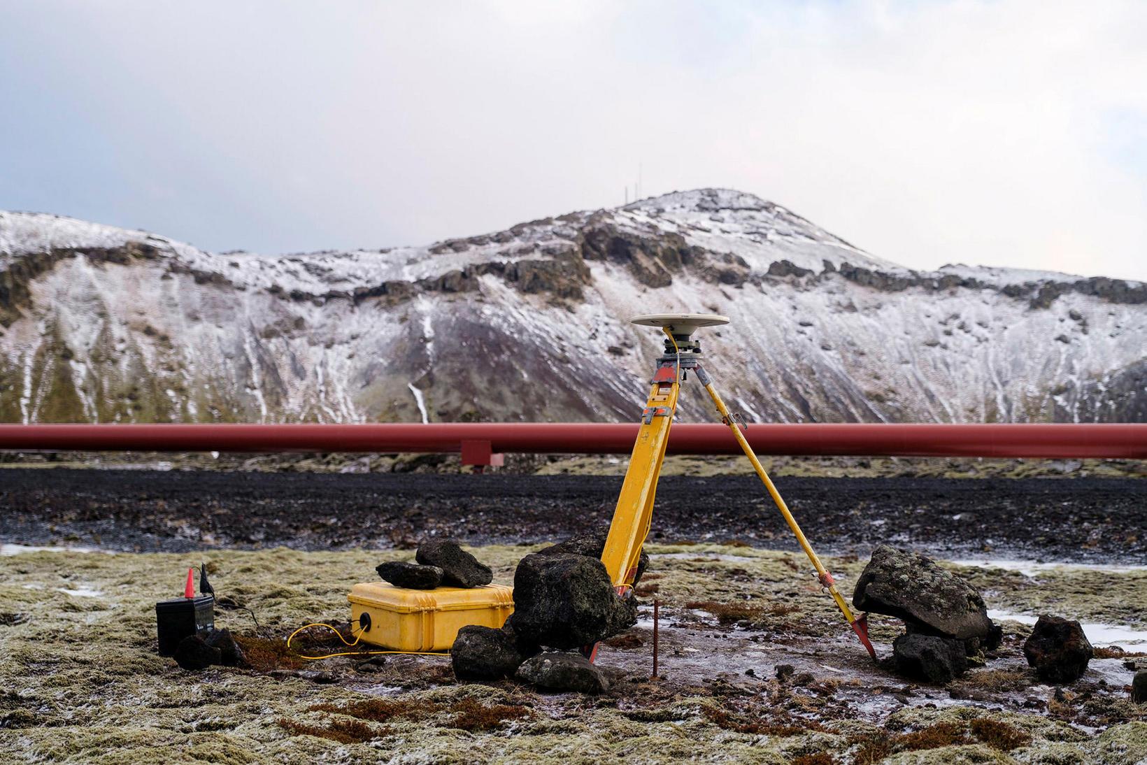 Mælar frá Veðurstofu Íslands í námunda við Þorbjörn.