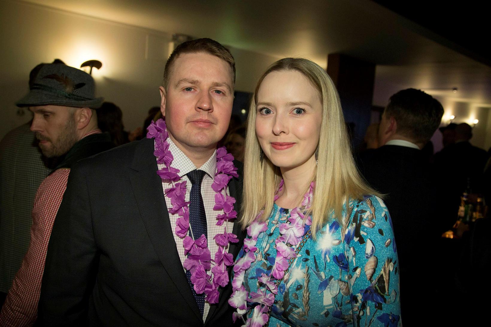 Ágúst Ingvarsson og Íris Heiðarsdóttir .