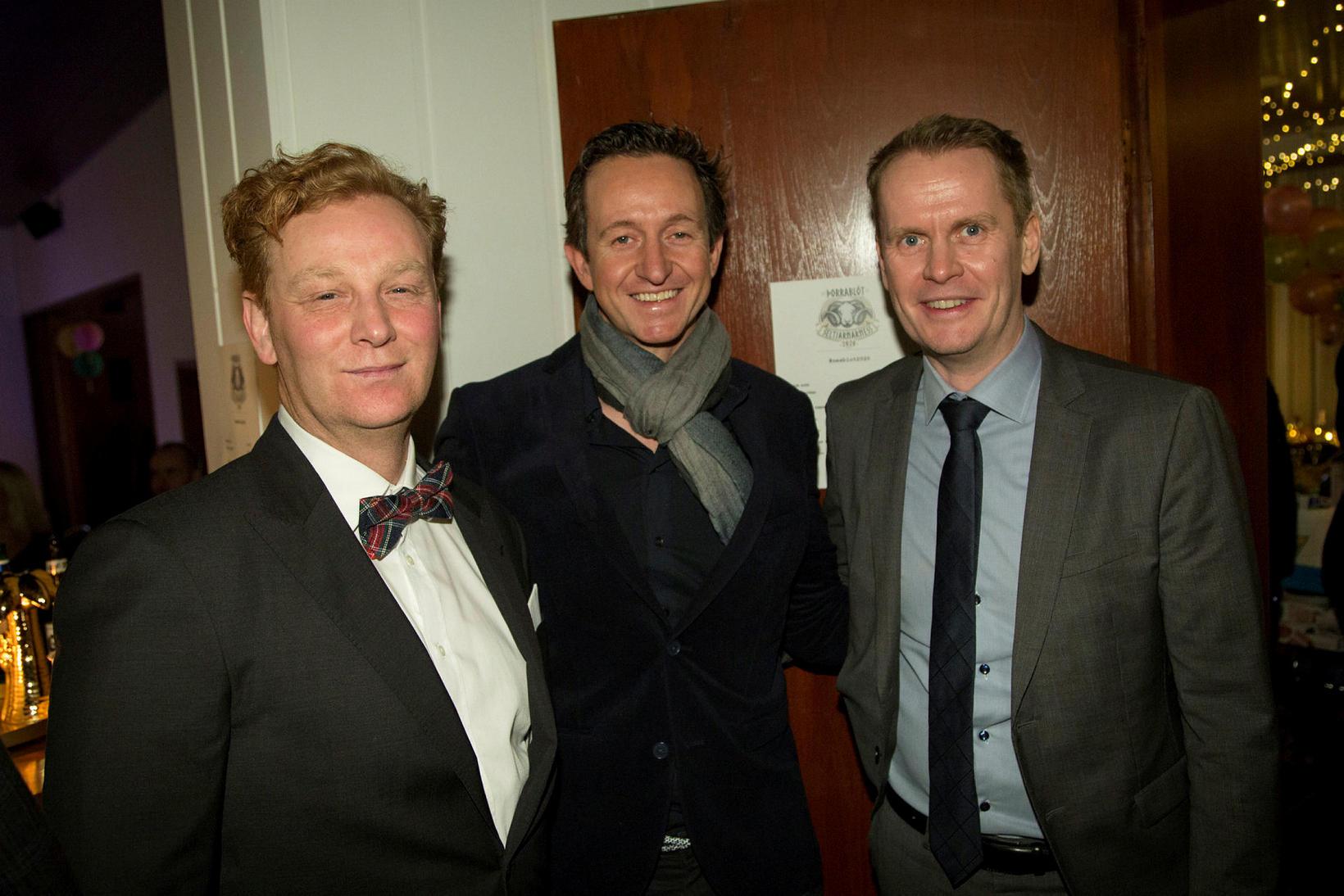Bragi Björnsson, Jóhann Þórarinsson og Páll Guðmundsson.